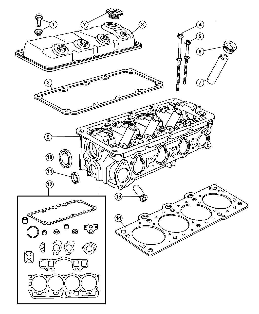 2001 dodge neon gasket package  engine upper  see note  emissions  eurochili  coatn