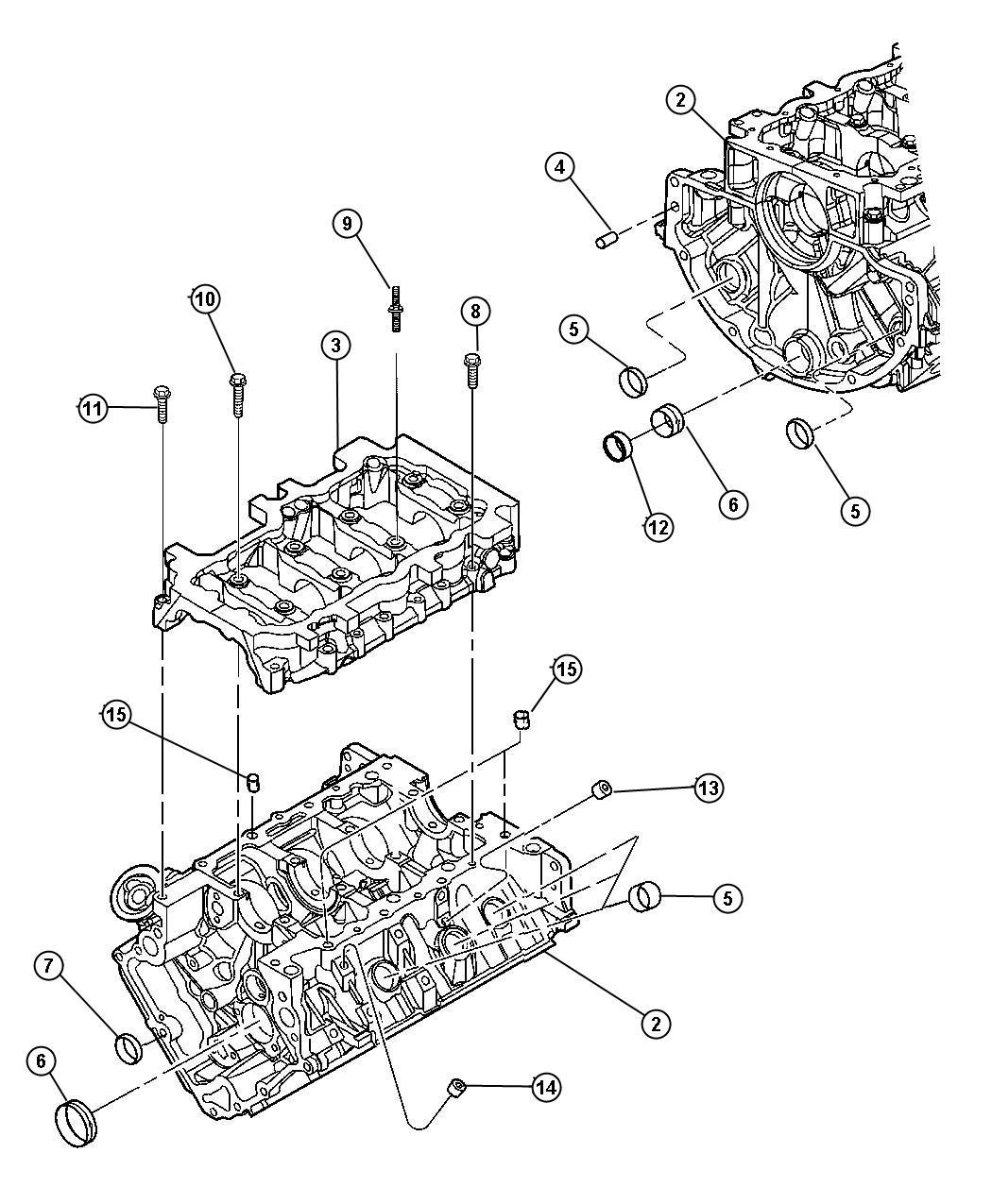2004 dodge durango engine  long block  ngc  controller
