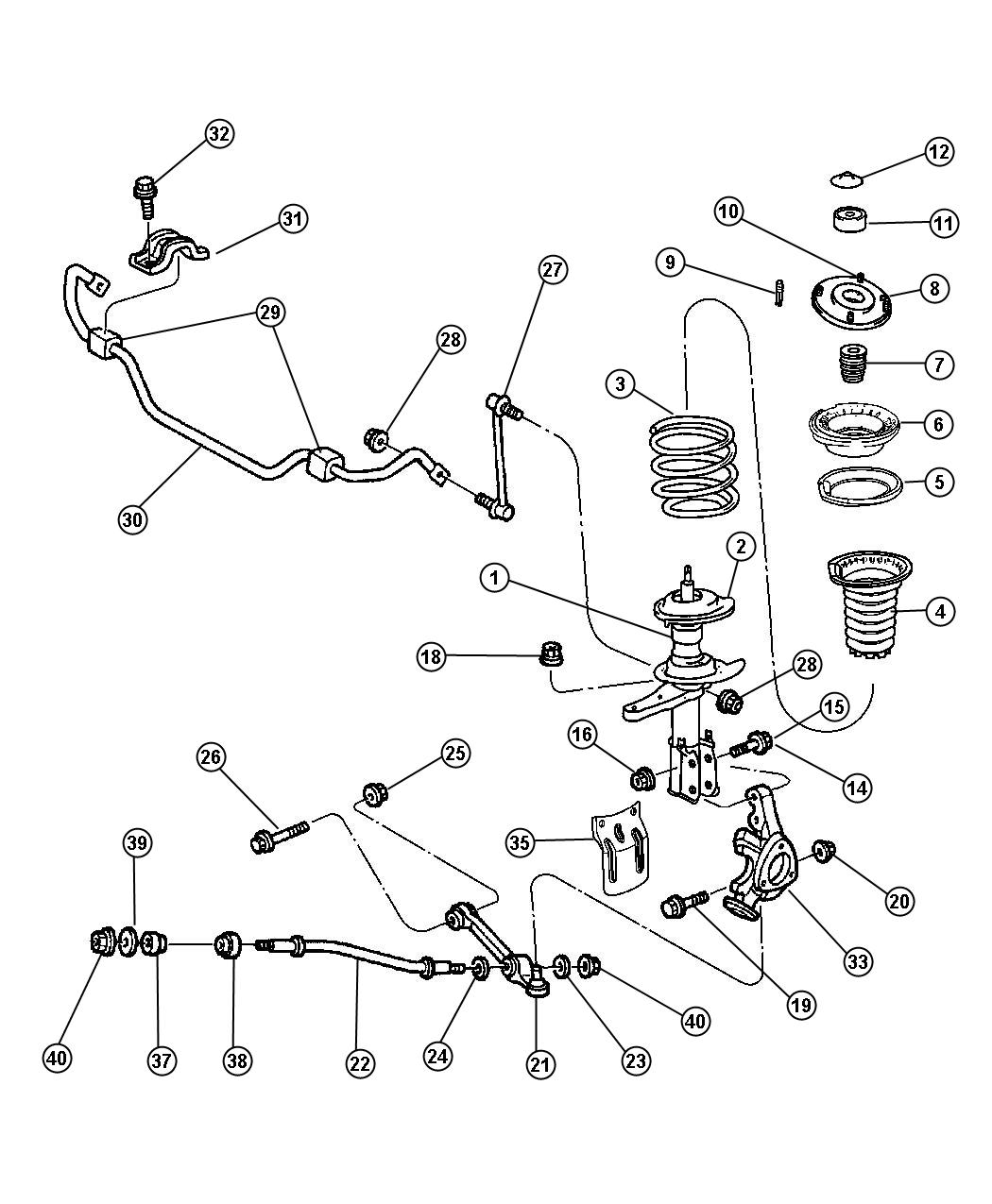2000 chrysler lhs washer  flat  21mm id  washer  tension strut  tension strut or bushing