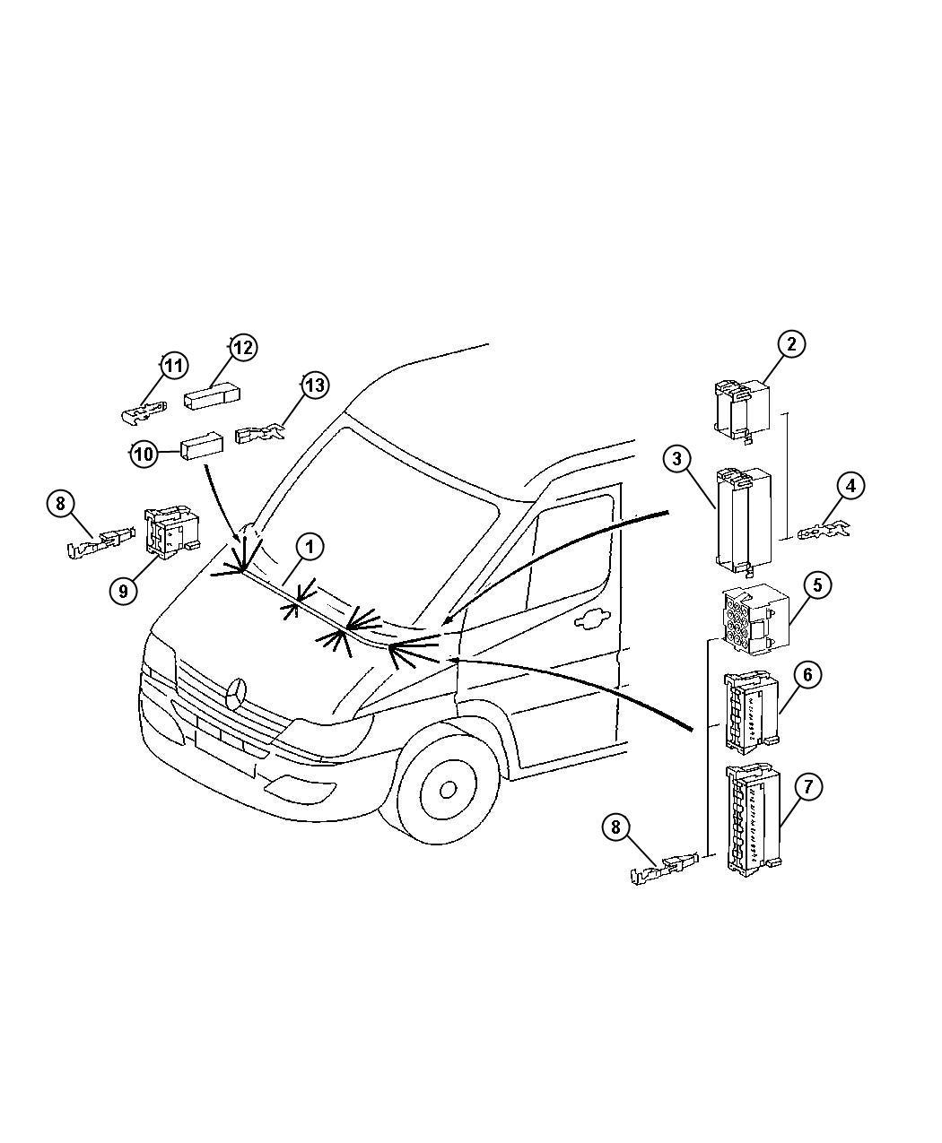 Dodge Sprinter Wiring  Instrument Panel Jumper  Ash Tray