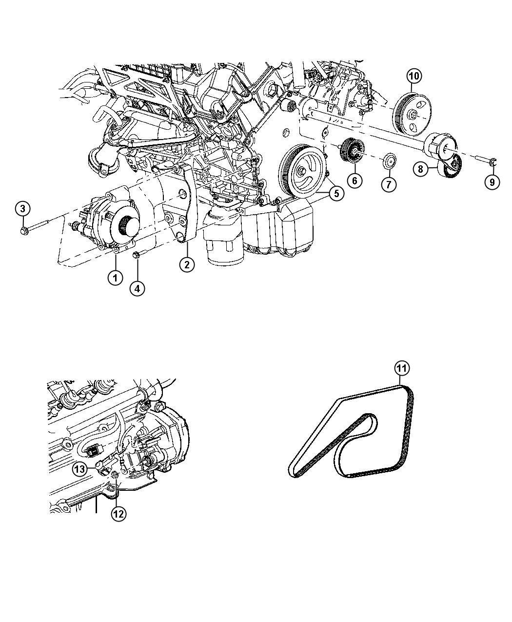 Chrysler 300 Belt  Belts  Maintenance
