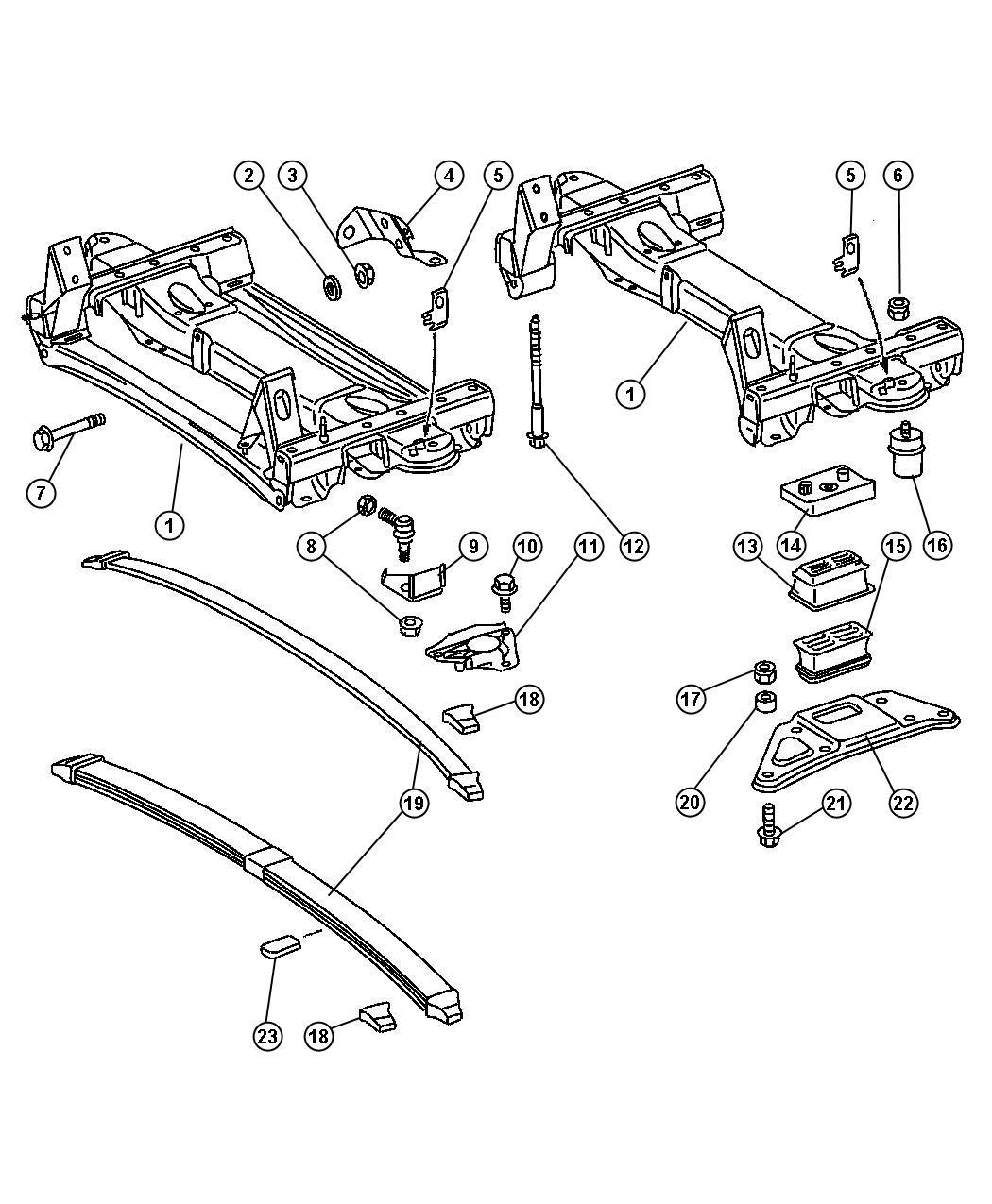 2011 Dodge Ram 3500 Plate  Suspension  Right  Spring