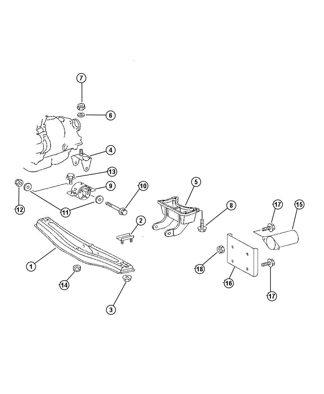 Dodge Sprinter Bracket  Engine Mount  Auto  Transmission