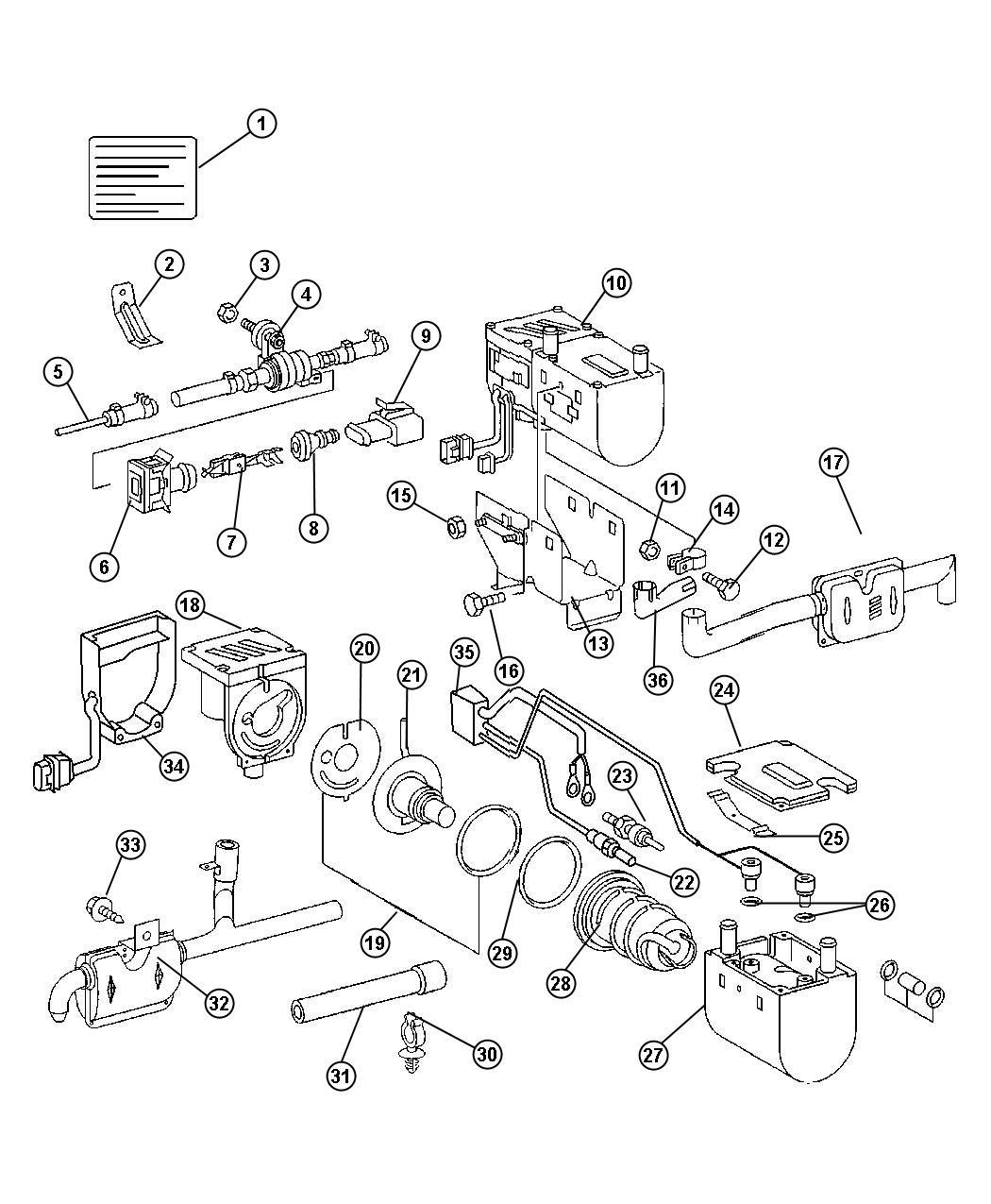2004 Dodge Sprinter 2500 Heater  Supplemental Diesel Fuel