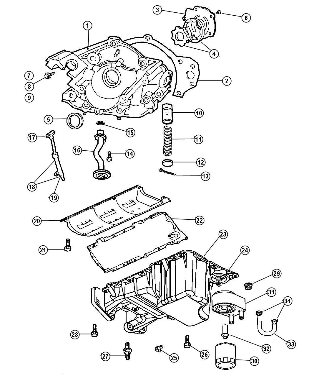 Chrysler 300 Tube Engine Oil Indicator Pan Oiling Egg