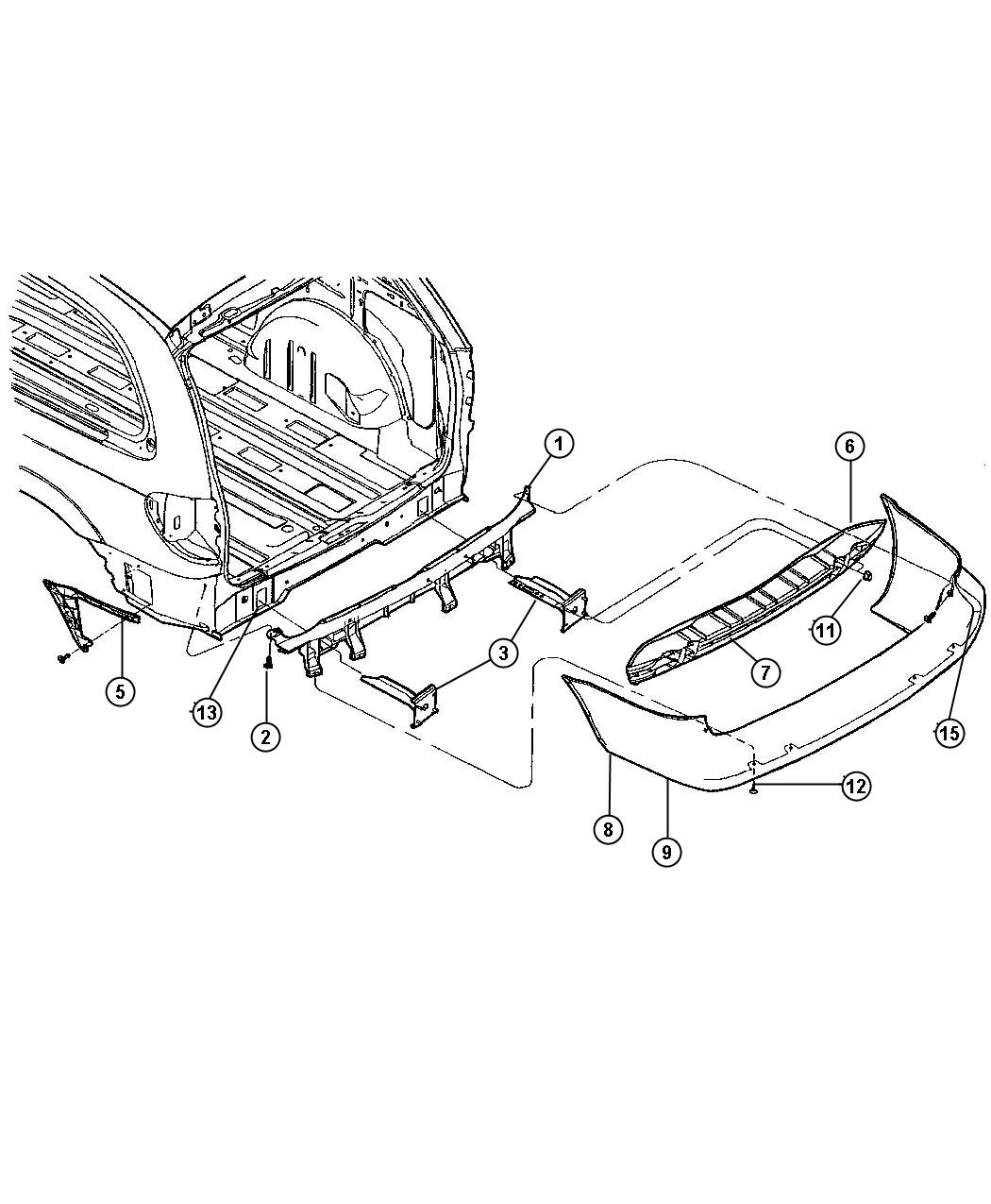 2007 dodge grand caravan fascia  rear  primed  body