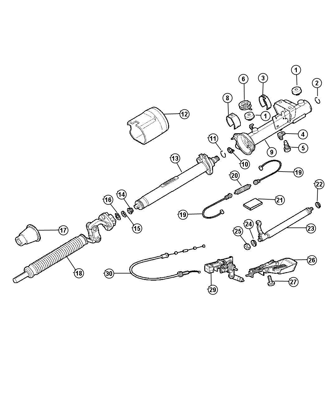Chrysler 300 Washer  Steering Column Housing  Cylinder