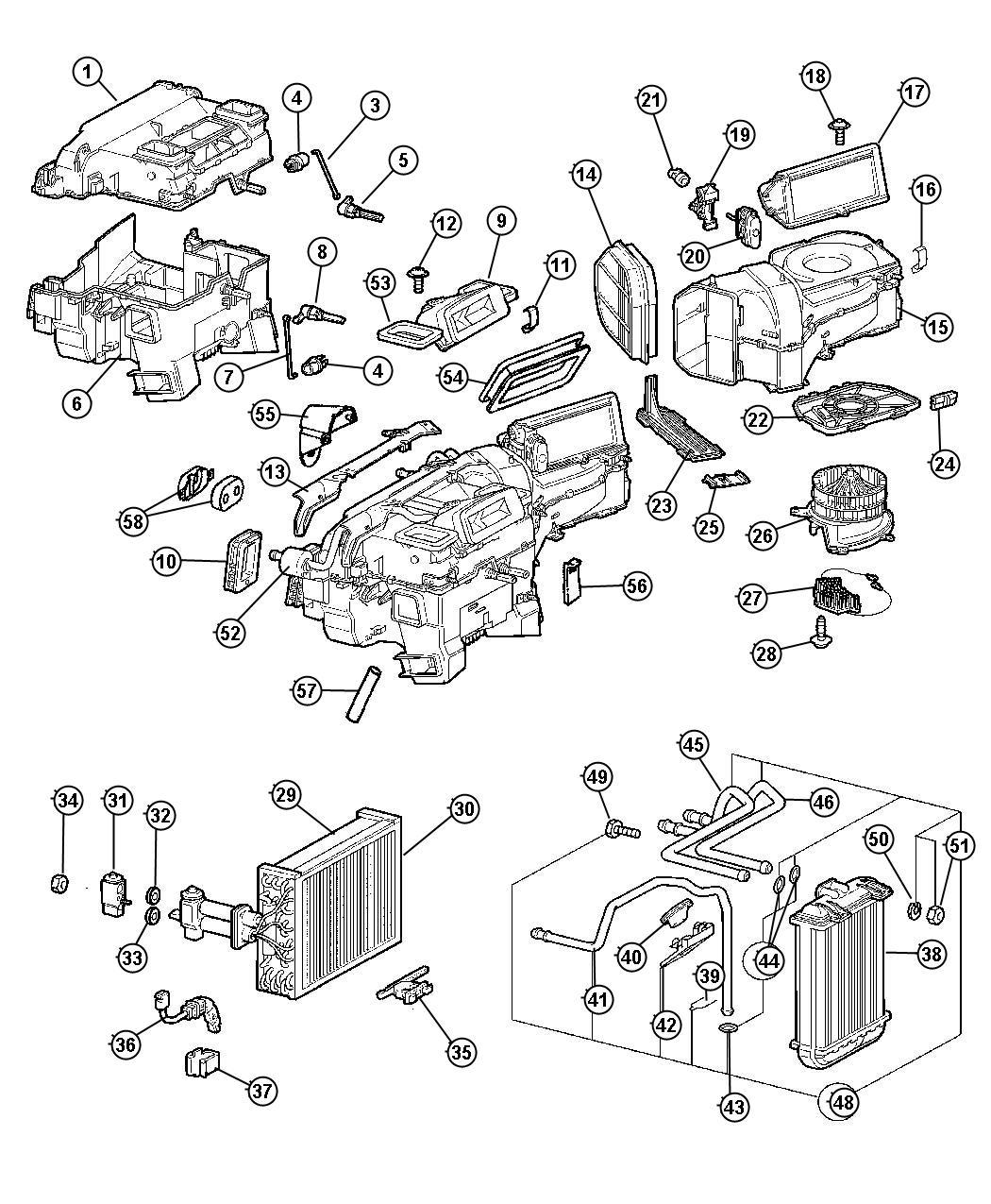 2005 Chrysler Crossfire Resistor. Blower Motor. Lhd. Air