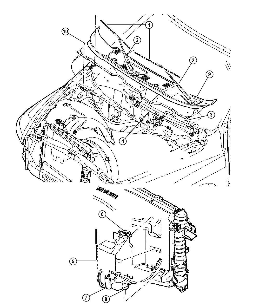 2011 Jeep Patriot Bottle  Coolant Reserve  U0026 Washer Fl  With Washer Reservoir