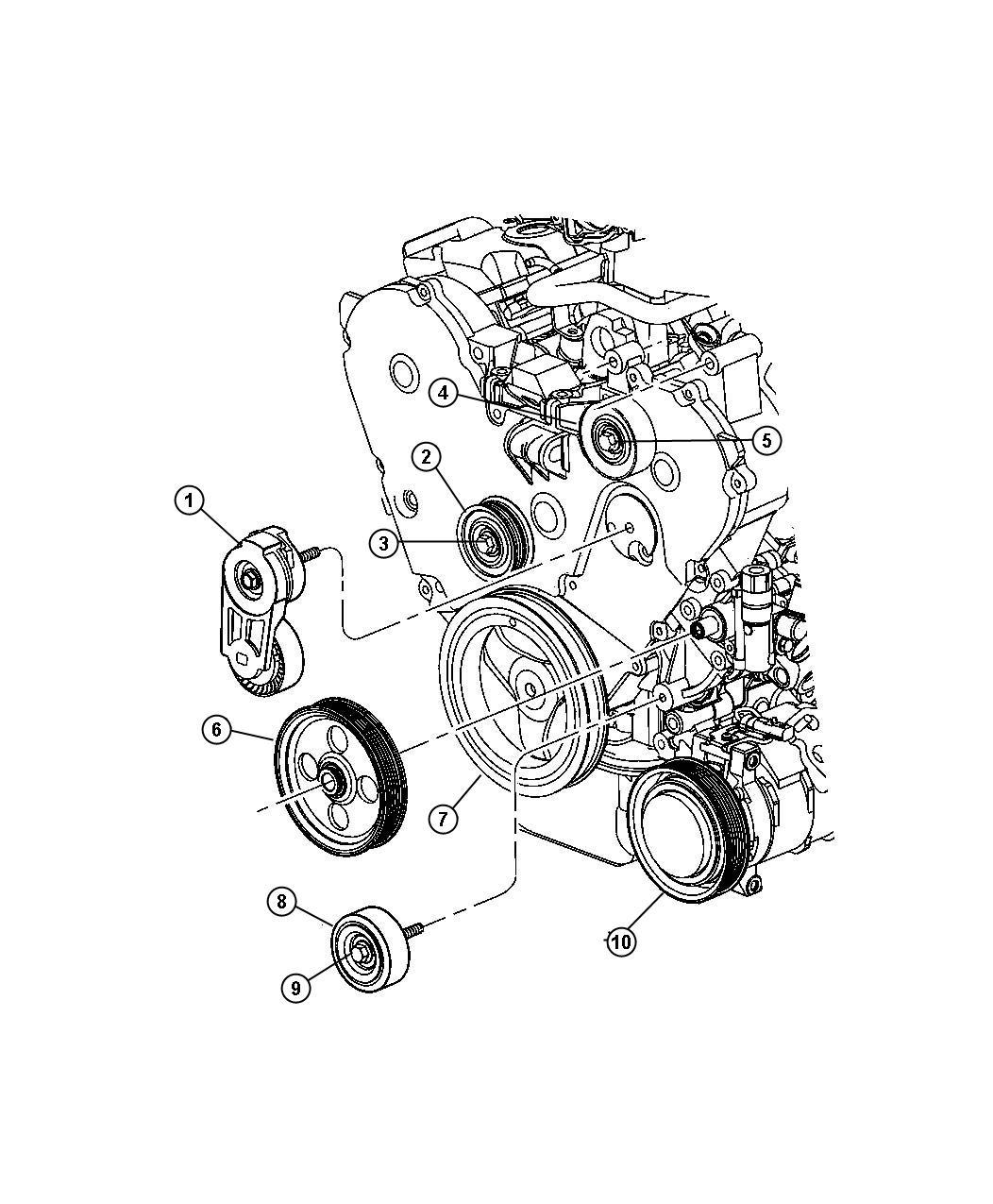 2001 Dodge Ram 3500 Pulley  Power Steering Pump
