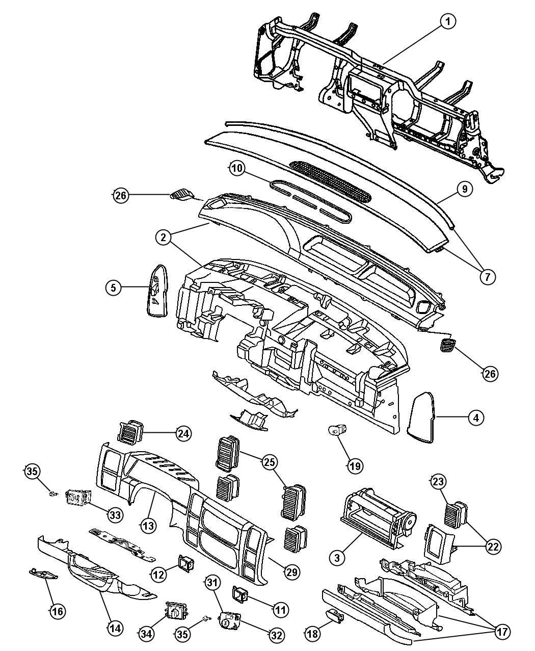 2005 Dodge Dakota Handle  Parking Brake   J3   Trim   All