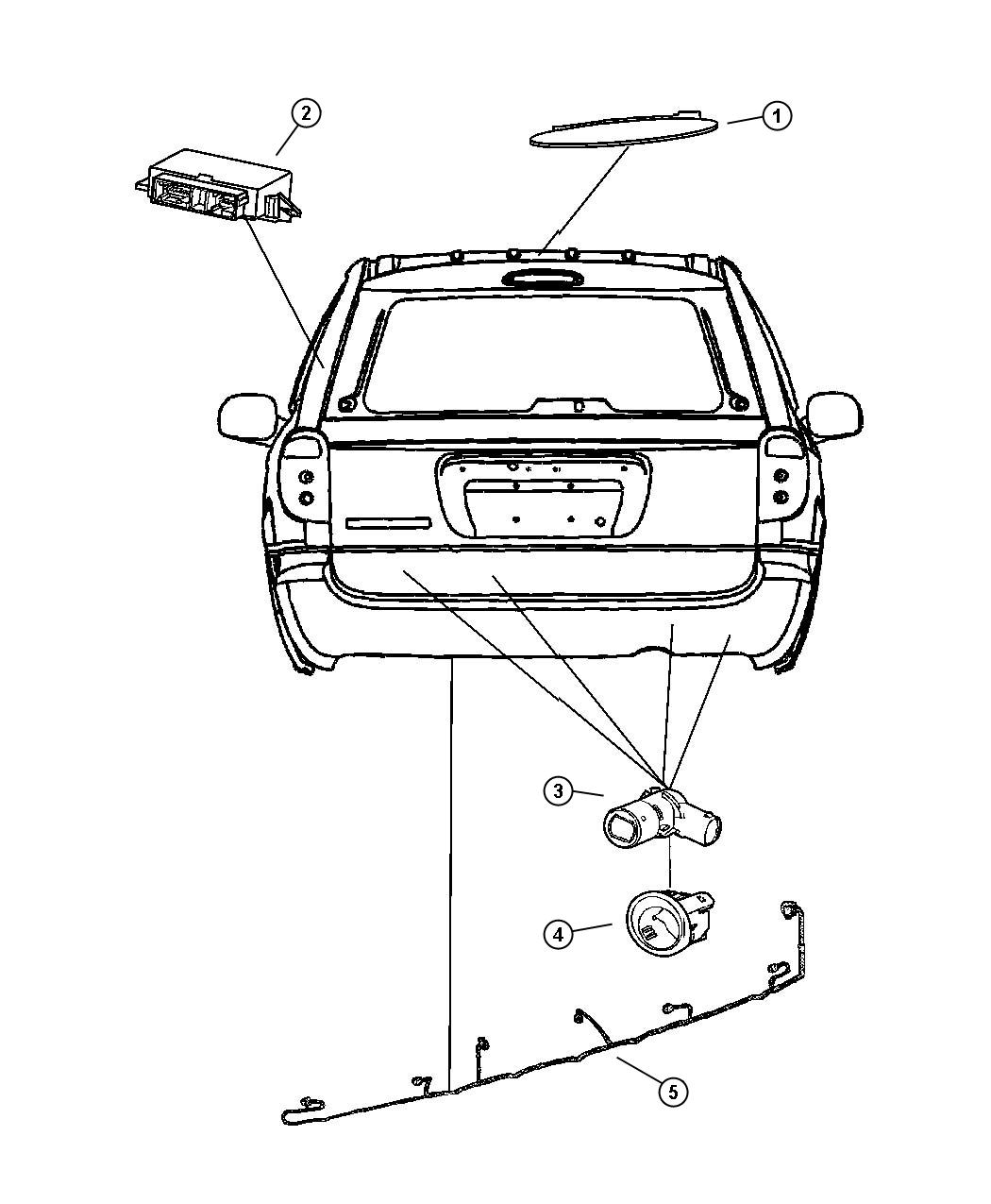 2005 Chrysler Town  U0026 Country Wiring  Rear Fascia  Park