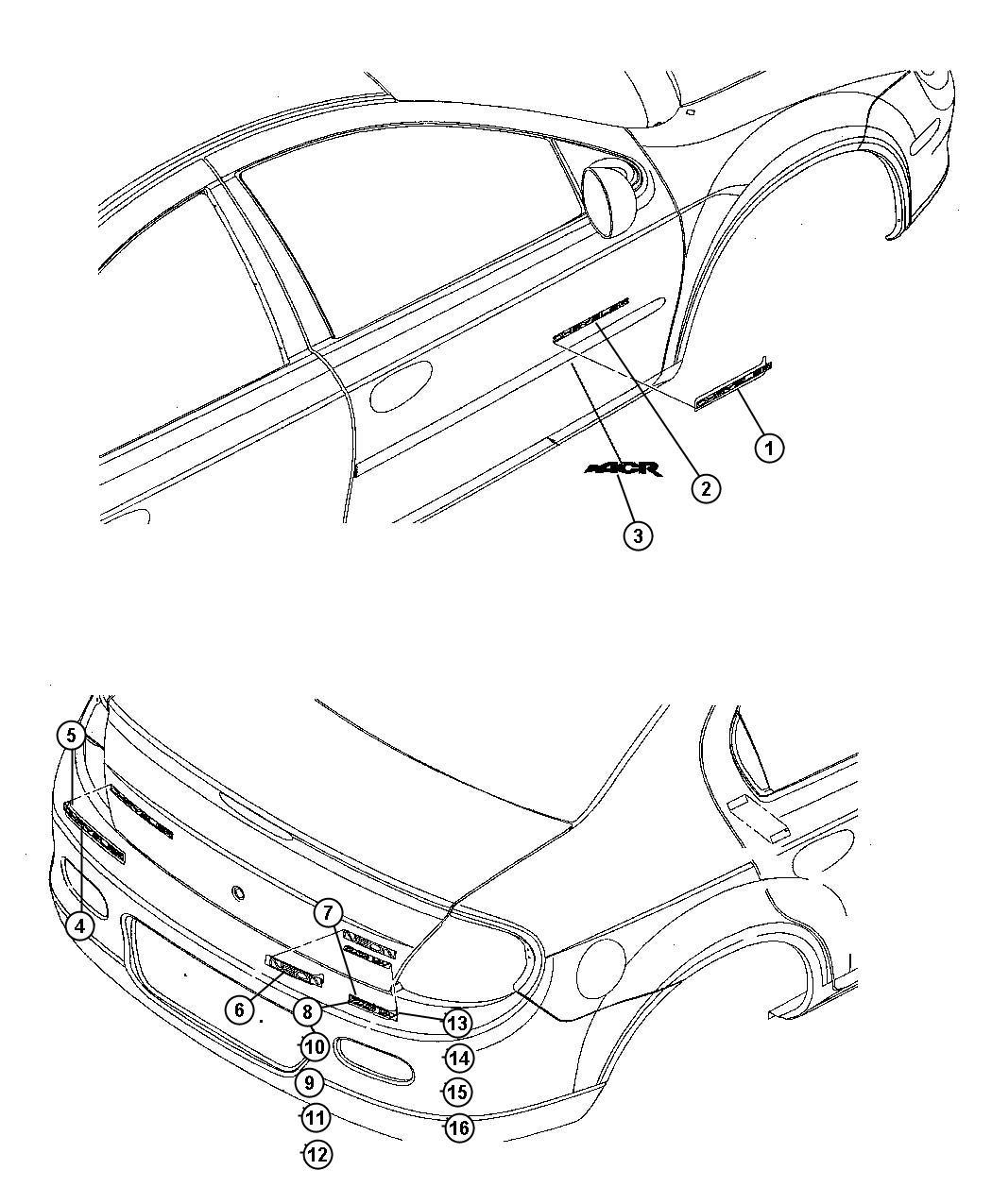 2010 jeep liberty medallion  front fascia  ram s head