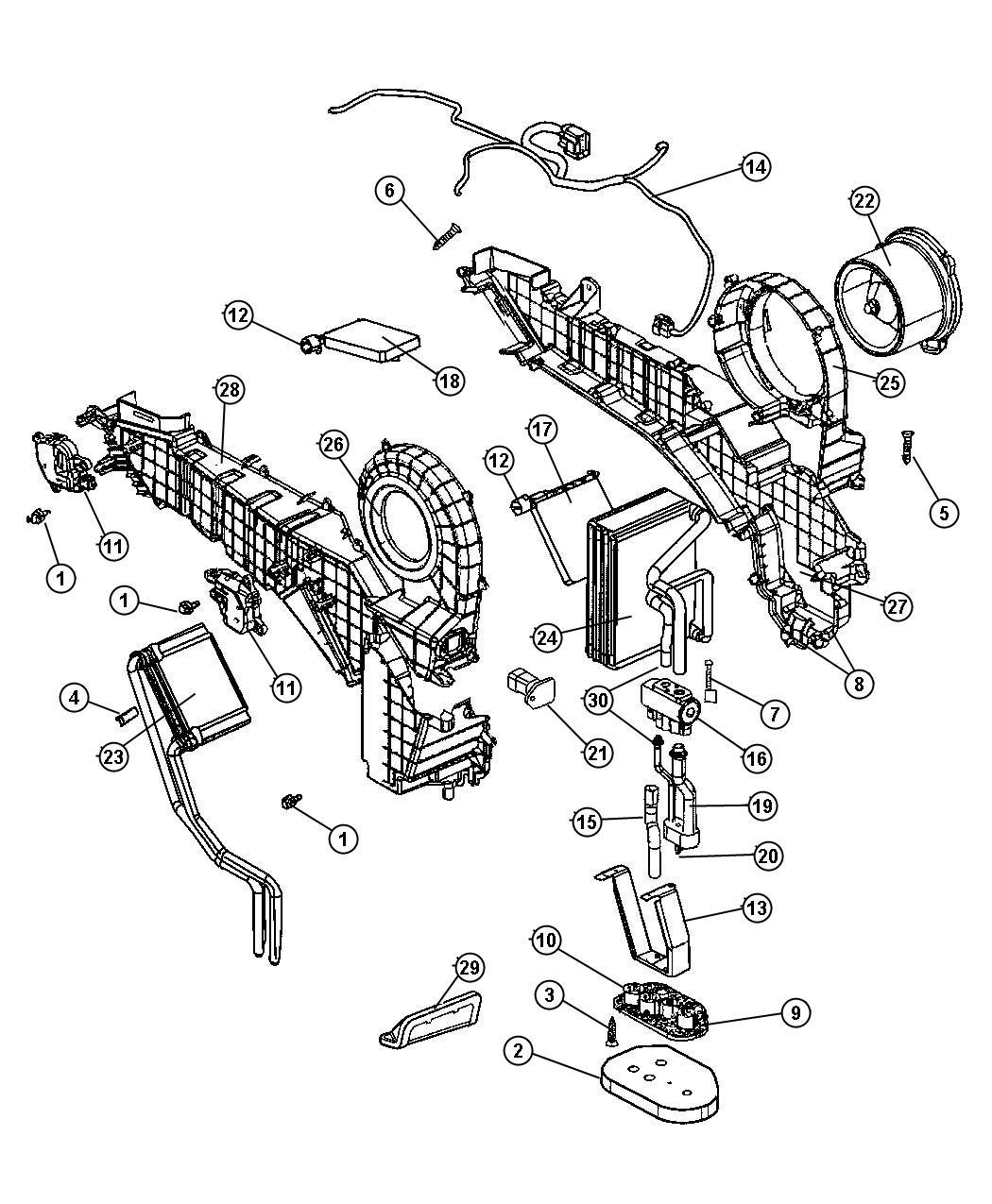2005 dodge durango valve  expansion  air  heater  conditioning