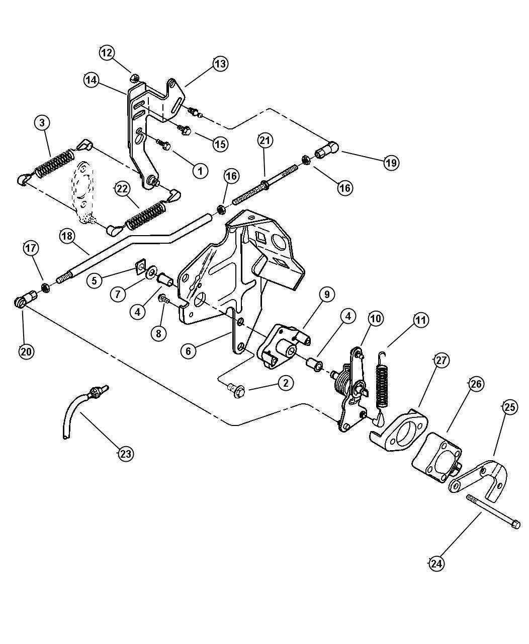 1998 Dodge Ram 2500 Cable  Throttle Valve  Controls  Body