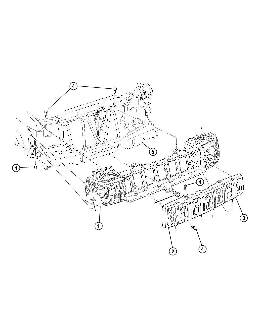 2012 Dodge Ram 1500 Grille  Radiator   S4   Mfn   Body