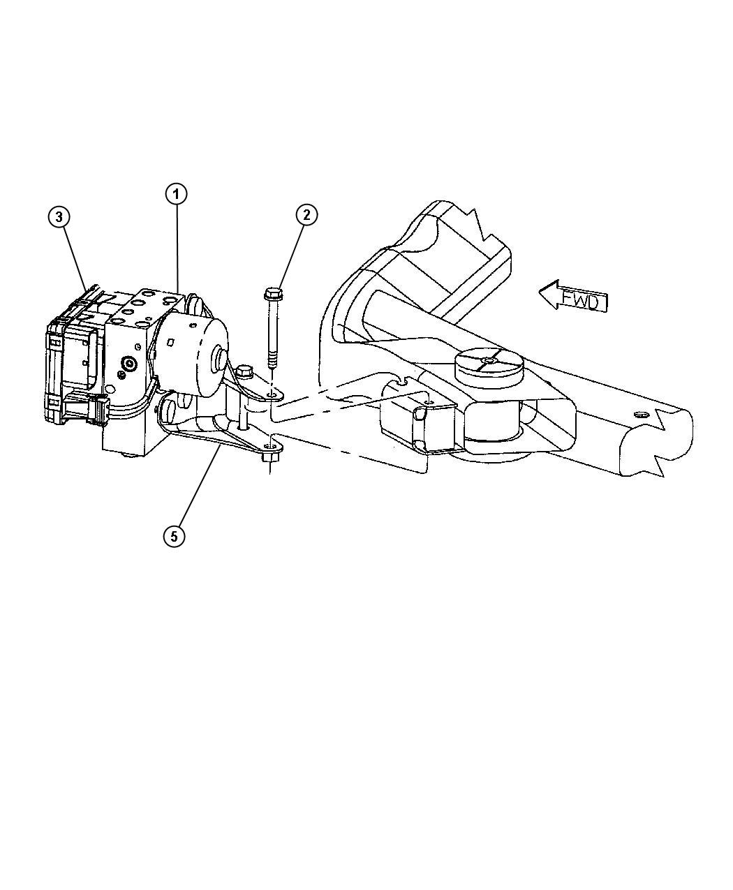 1999 Chrysler Concorde Screw  6 Lobed  Mounting