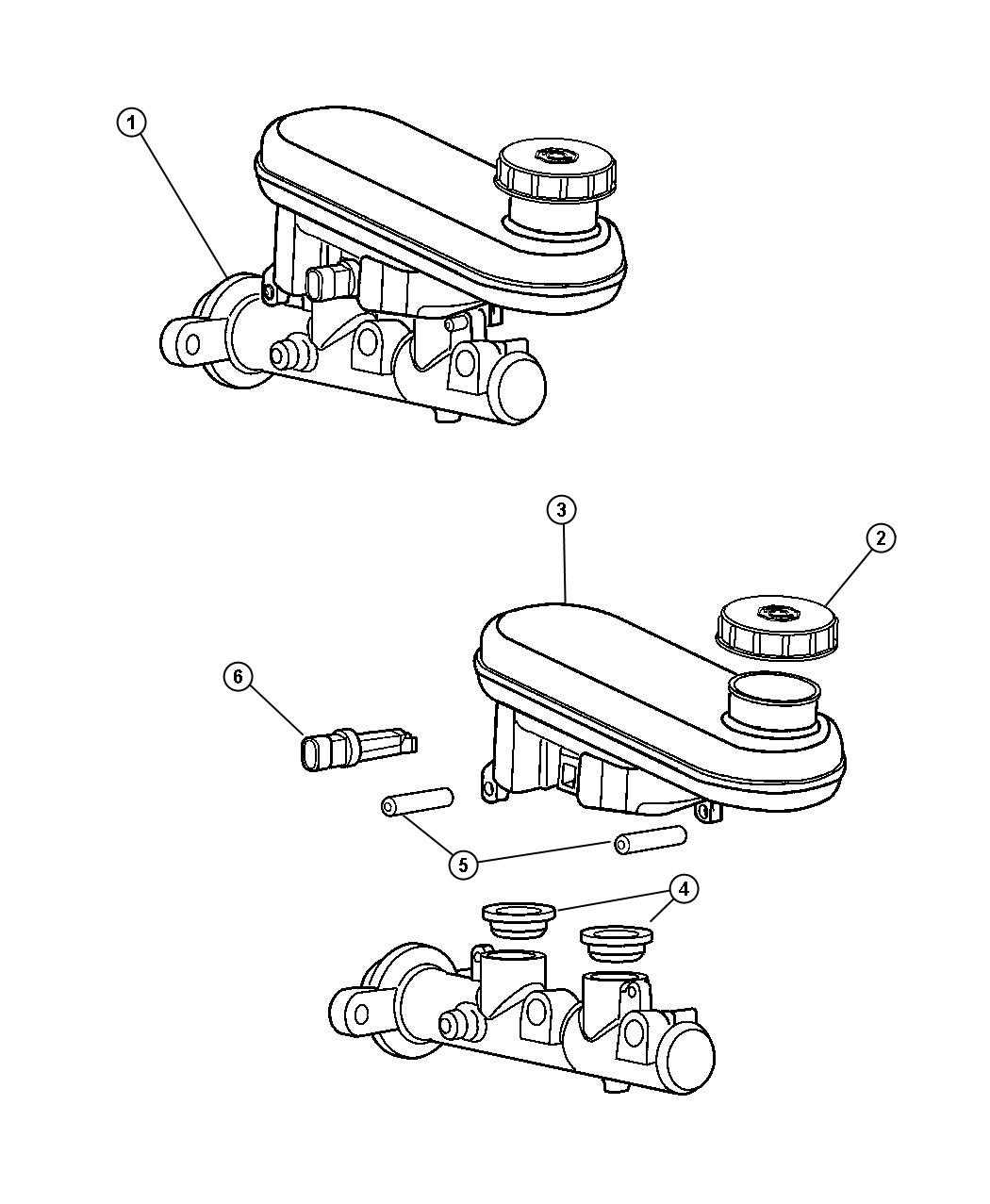 2000 Chrysler Concorde Switch  Brake Fluid Level