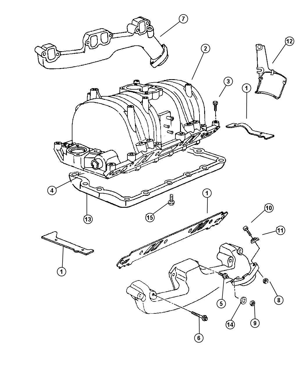 I on 2000 Dodge Durango Exhaust Diagram