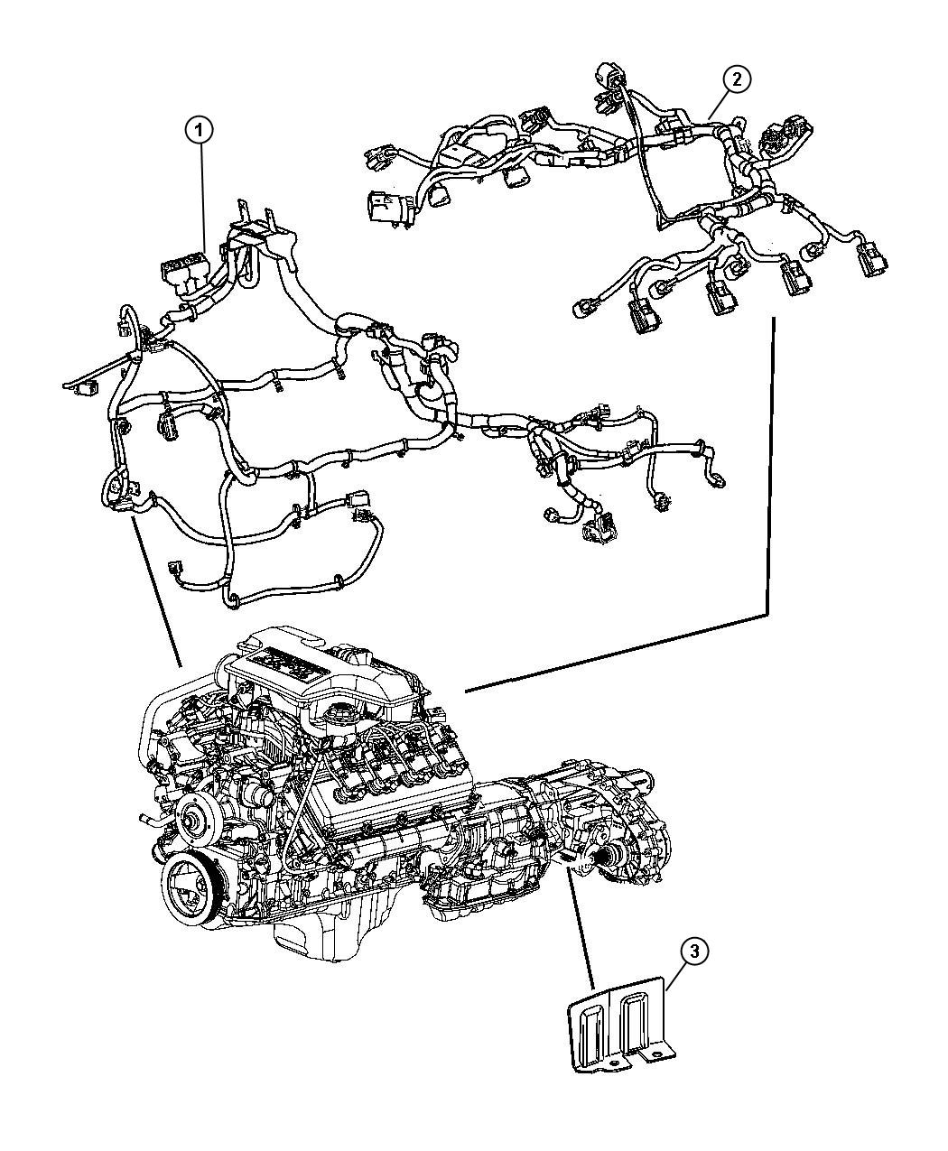 2005 Dodge Durango Wiring  Engine