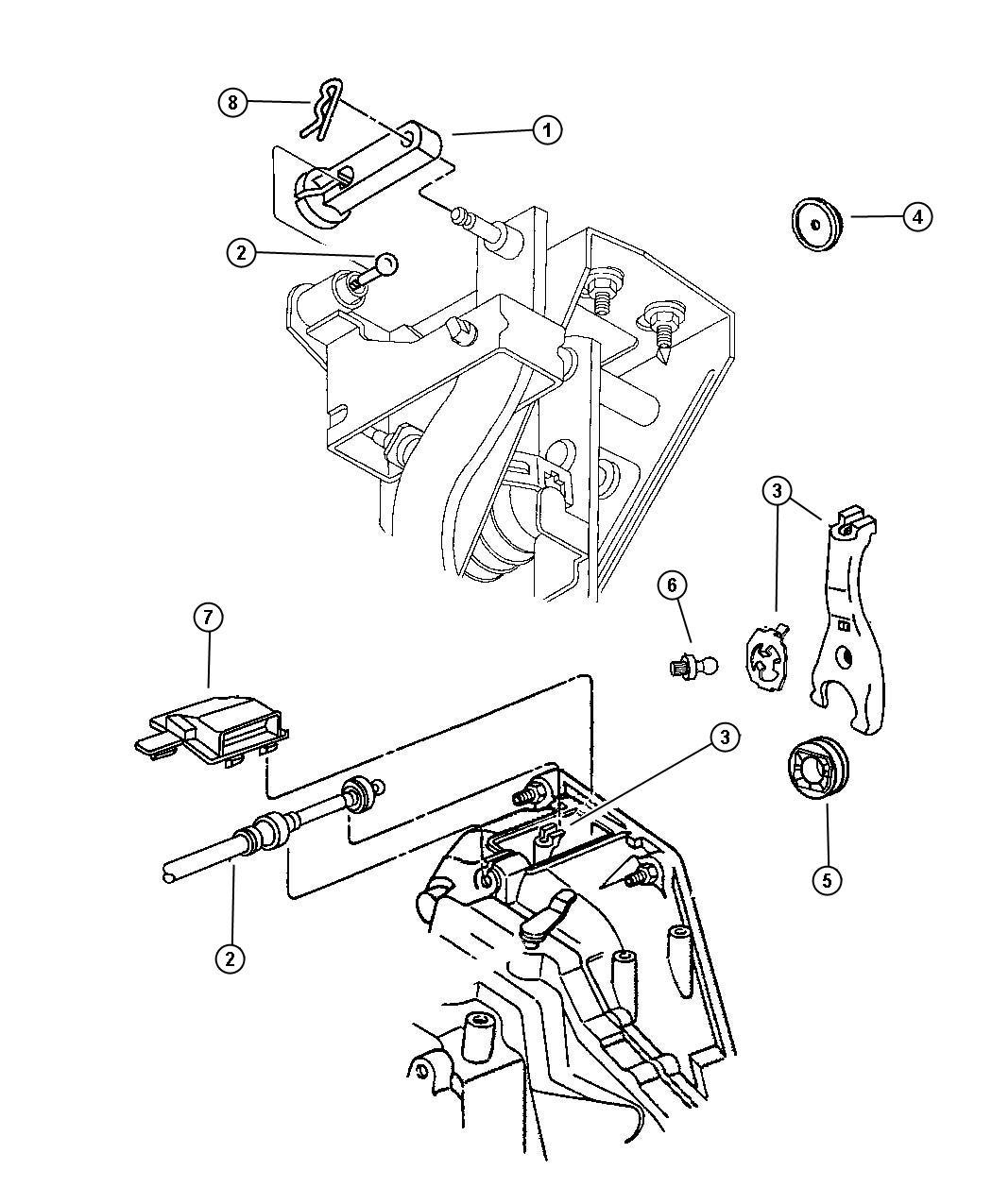 1996 dodge cirrus spacer  clutch pedal adjuster