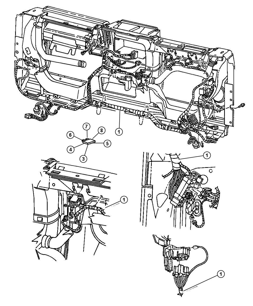 1998 jeep grand cherokee flasher  usa  canada  engine  export  equipment