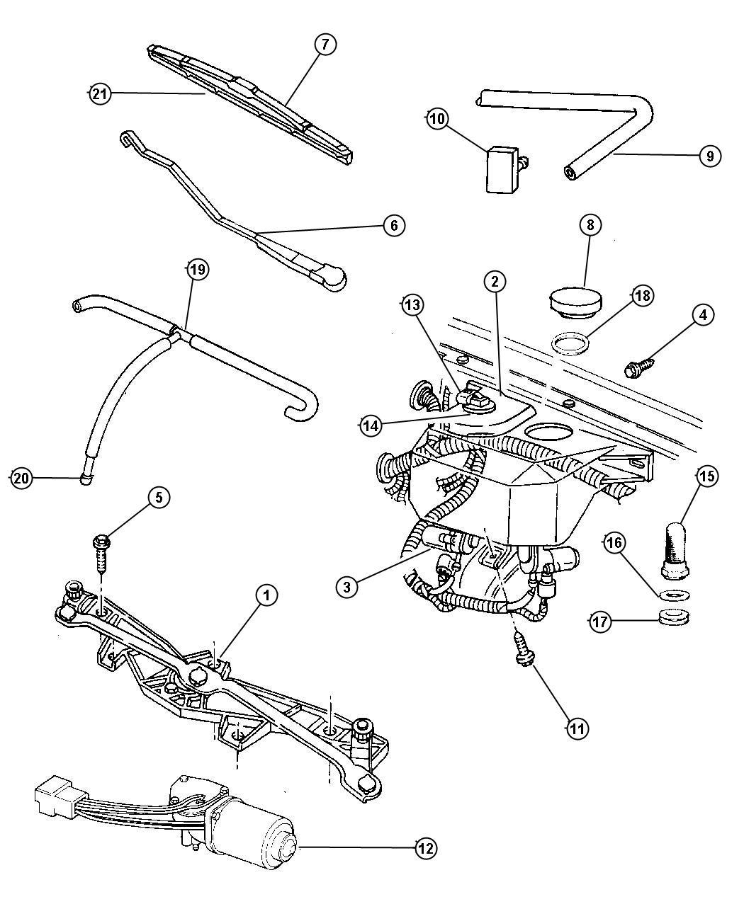 1997 Dodge Ram 2500 Pump  Pump Package  Washer  Windshield