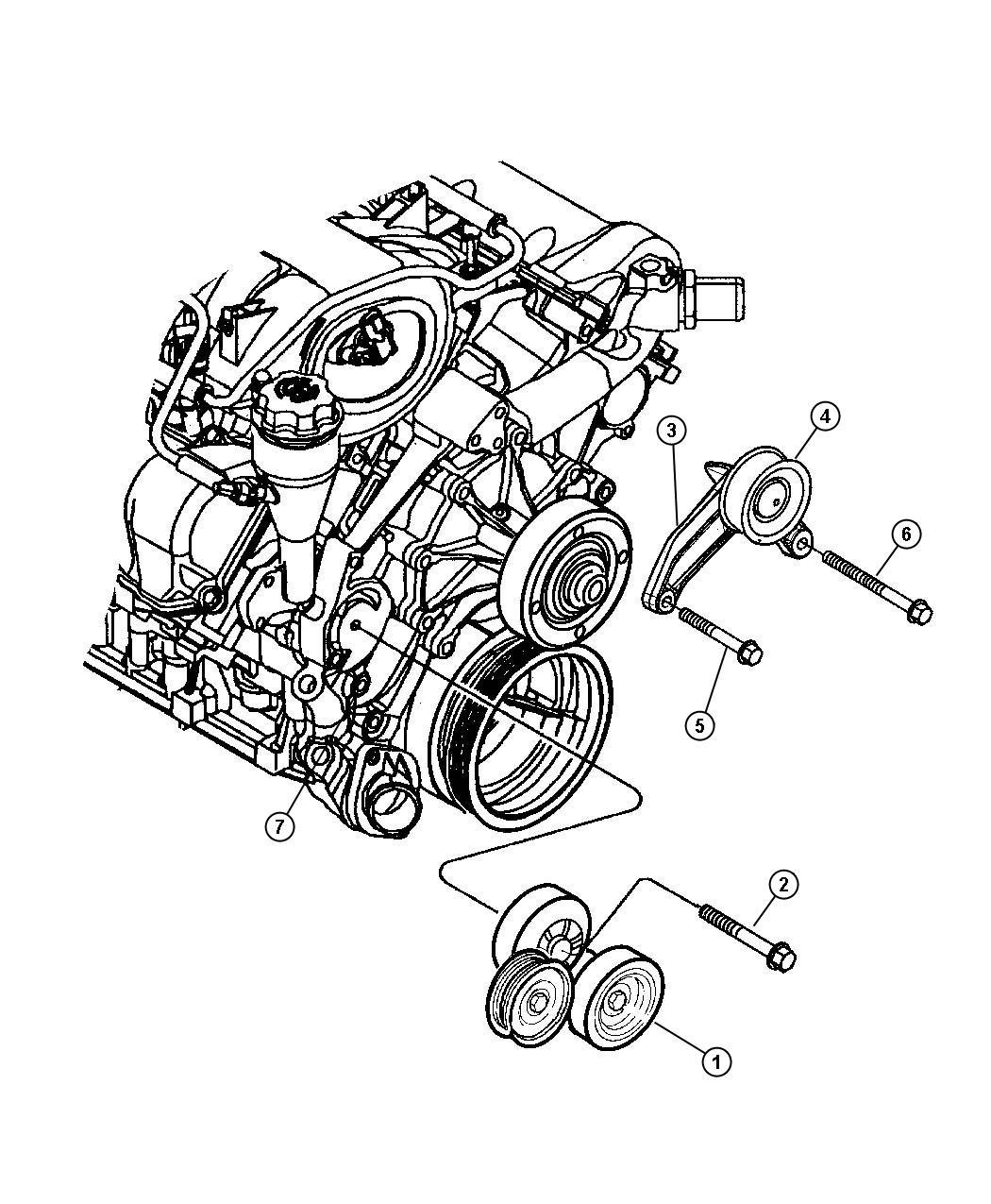 2008 Dodge Avenger Bracket  Idler Pulley   All Vehicles W