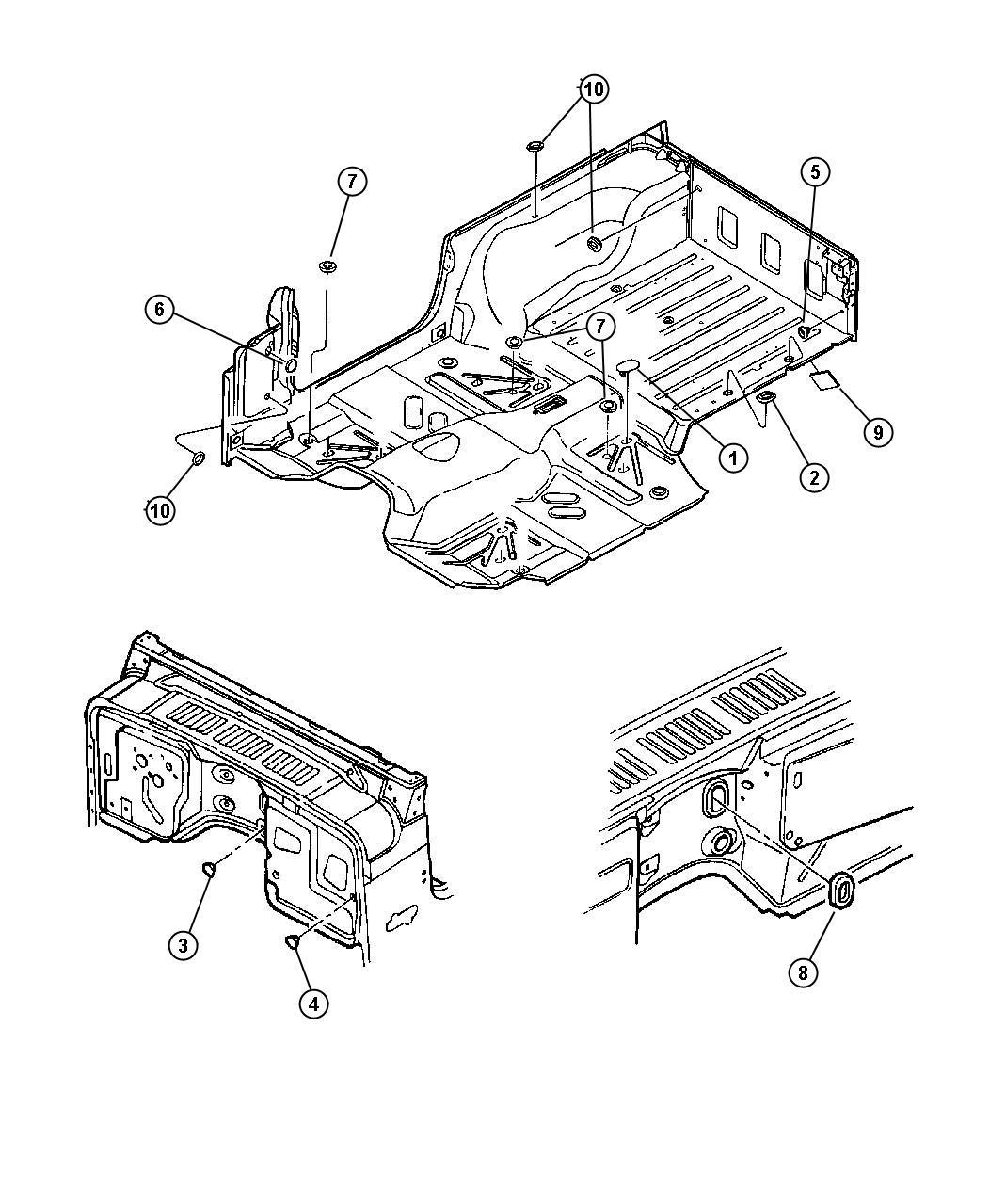 jeep wrangler plug  floor pan  rubber  liftgate  plugs  body