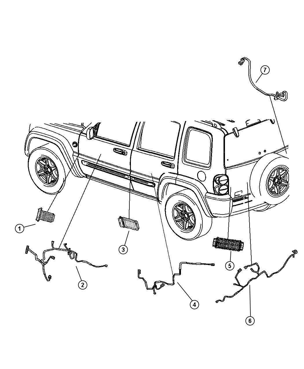 2005 Jeep Liberty Wiring  Jumper  Power Door Lock  Handle
