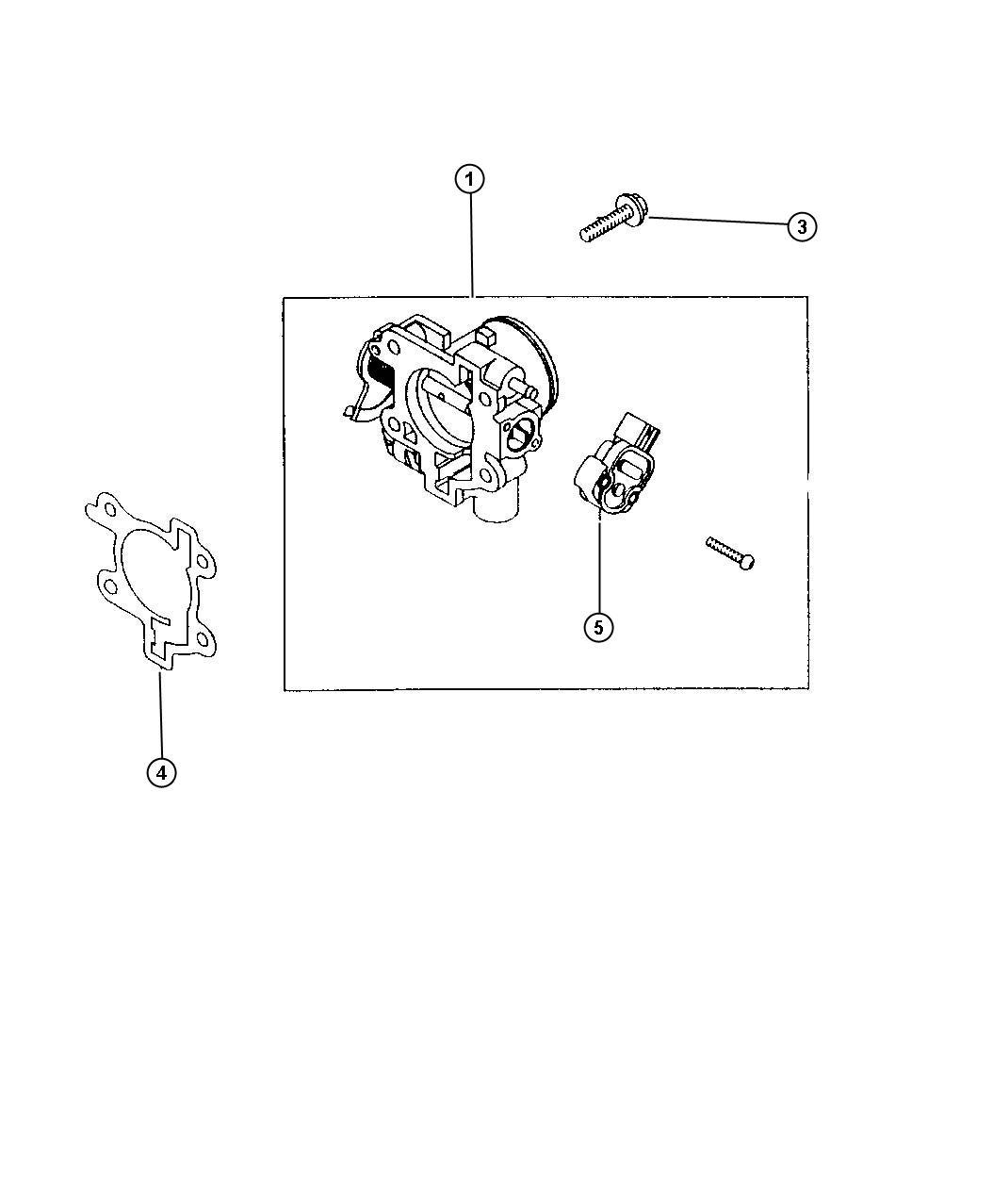Dodge Avenger Sensor  Throttle Position  Engine  Body