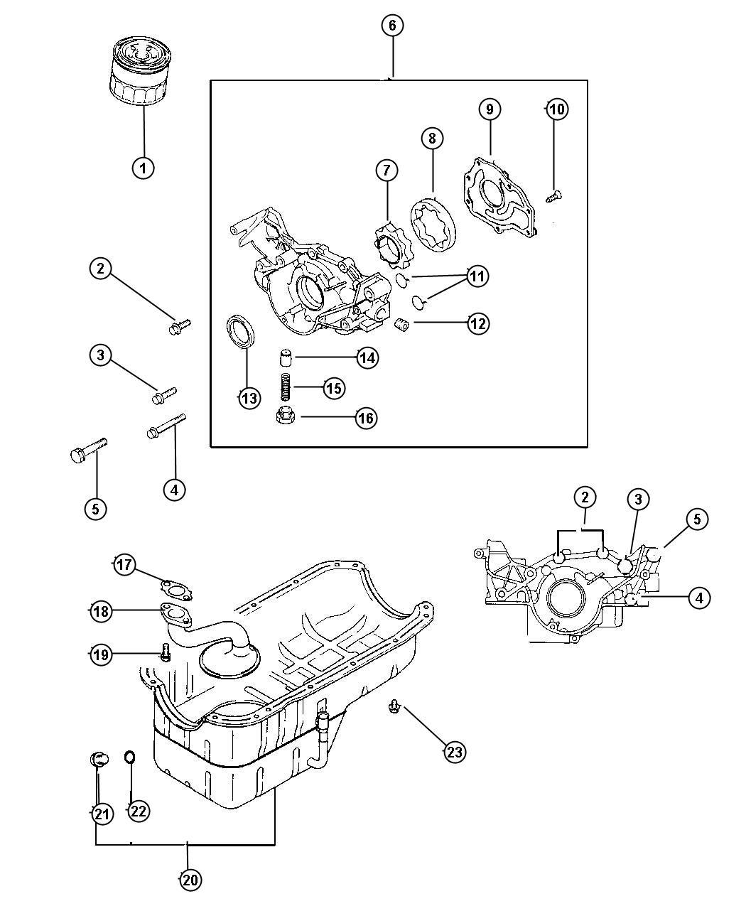 2000 Dodge Avenger Plug  Cylinder Block Oil Hole  Engine