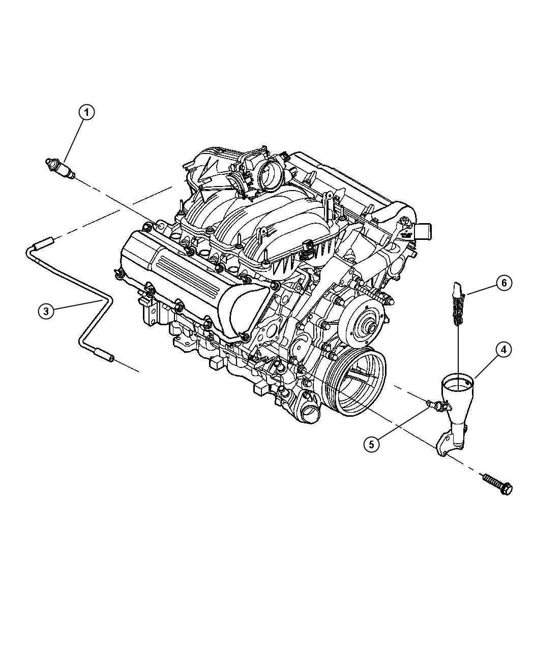 2004 Jeep Liberty Hose  Cylinder Head To Air Cleaner