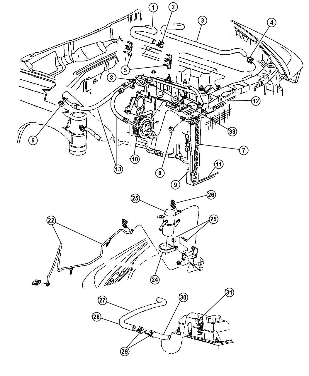1997 Dodge Dakota Line. Used for: a/c suction and ...