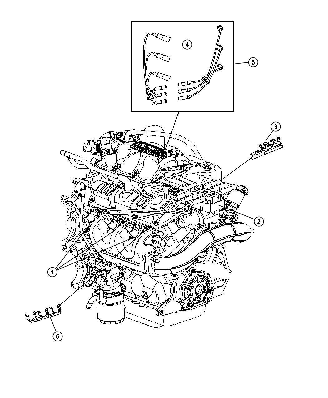 2001 dodge caravan sparkplug  plugs  ignition  cables