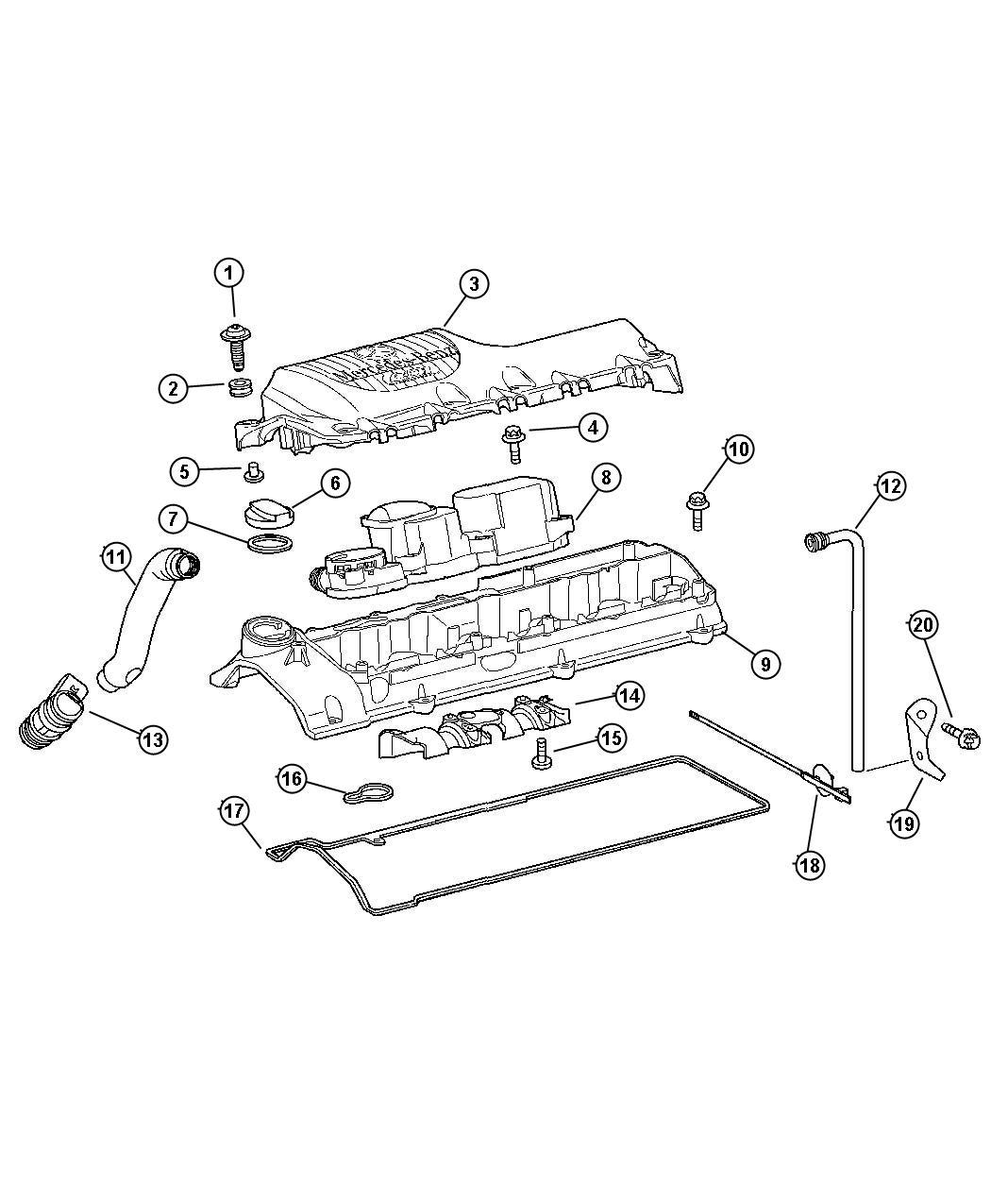 2013 dodge journey cover engine cylinder head diesel. Black Bedroom Furniture Sets. Home Design Ideas