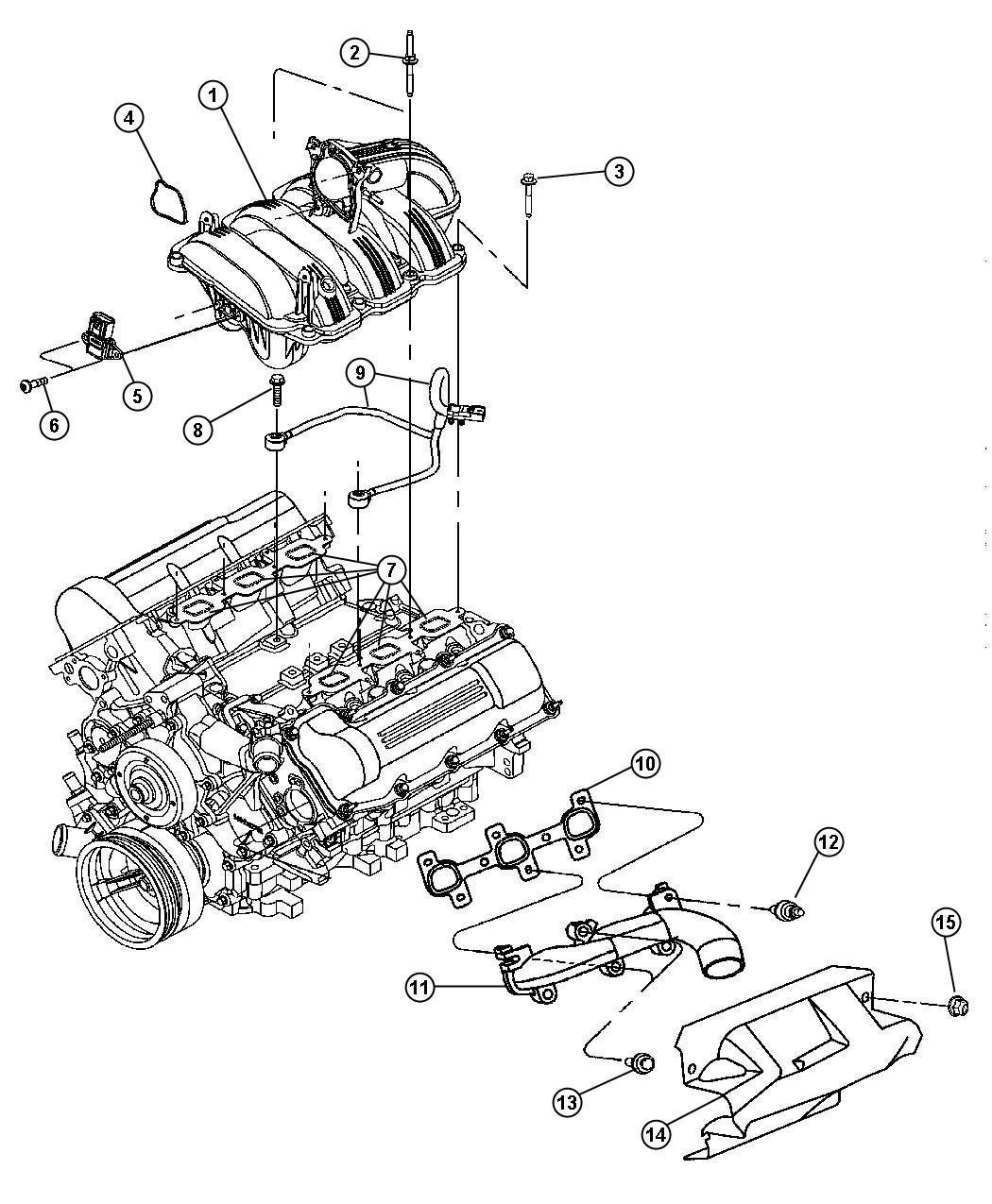 2013 Chrysler 200 Gasket  Throttle Body To Intake  Evaevd