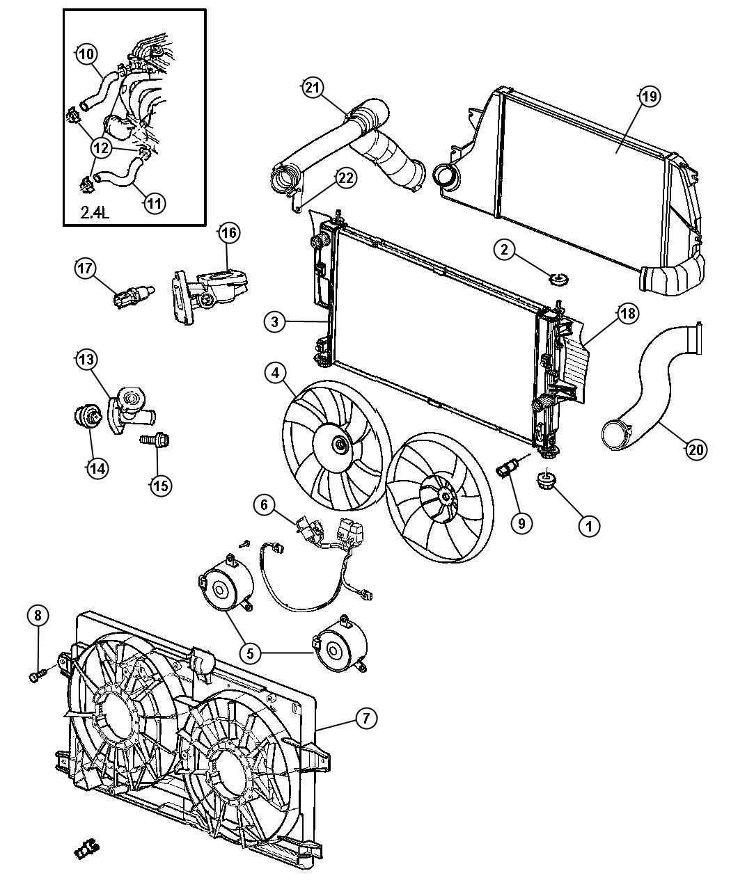 1997 Chrysler Town  U0026 Country Connector  Engine Coolant
