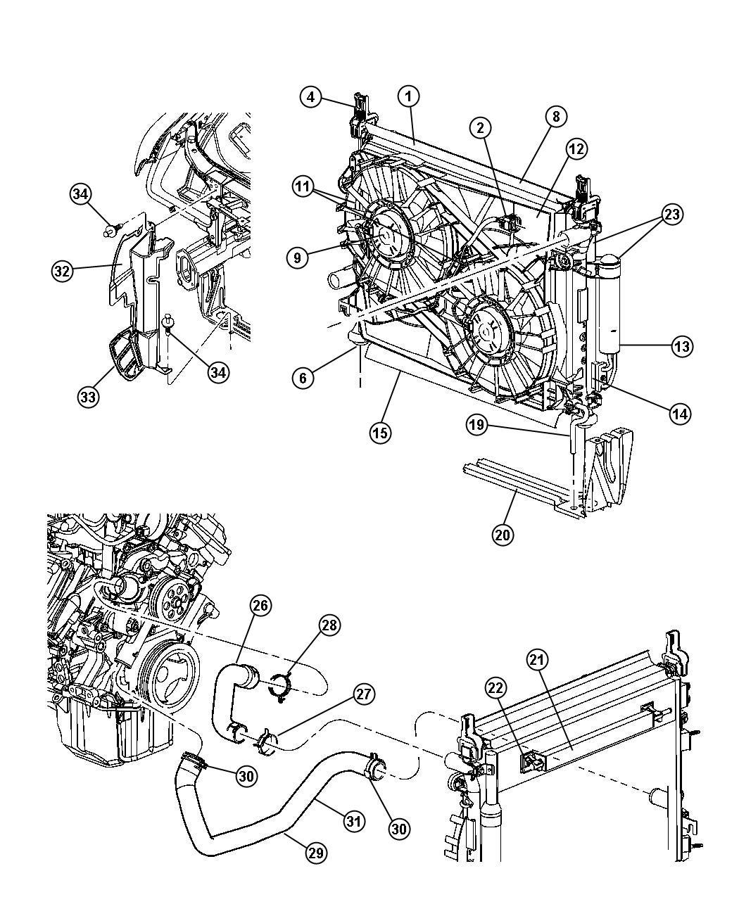 2006 Dodge Magnum Radiator  Engine Cooling   Maximum Duty