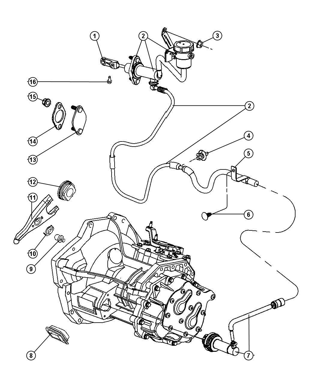 2013 jeep patriot cylinder  clutch slave  maintenance
