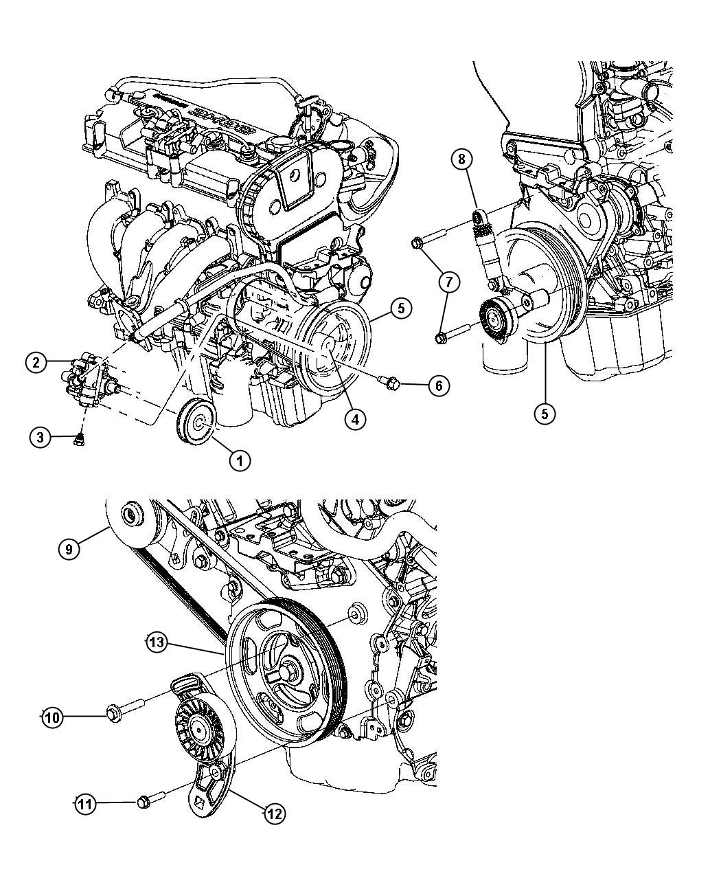 1998 Dodge Durango Damper  Engine Vibration  Dohc  Timing
