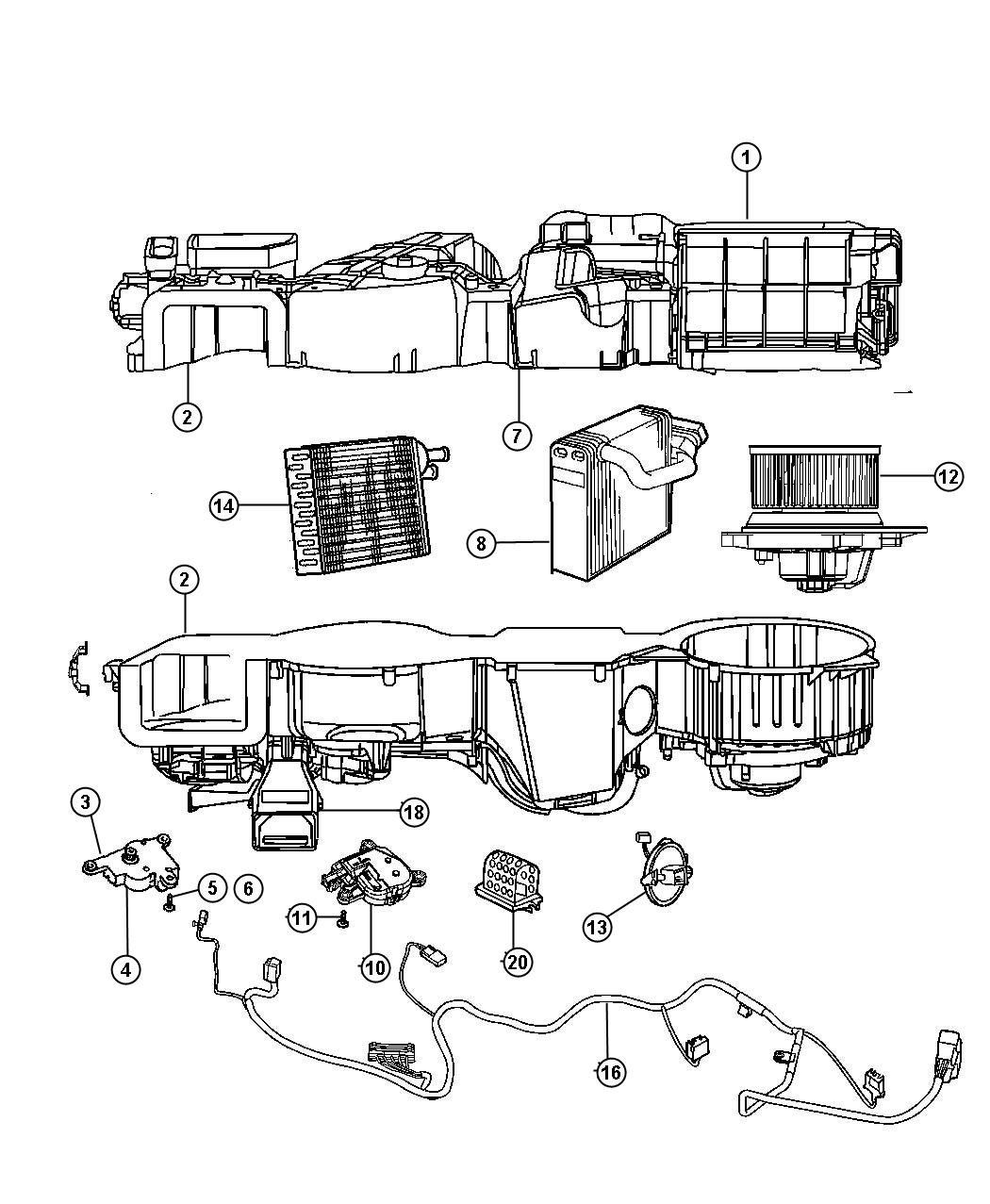 2009 Jeep Compass Actuator  Mode Control  Air