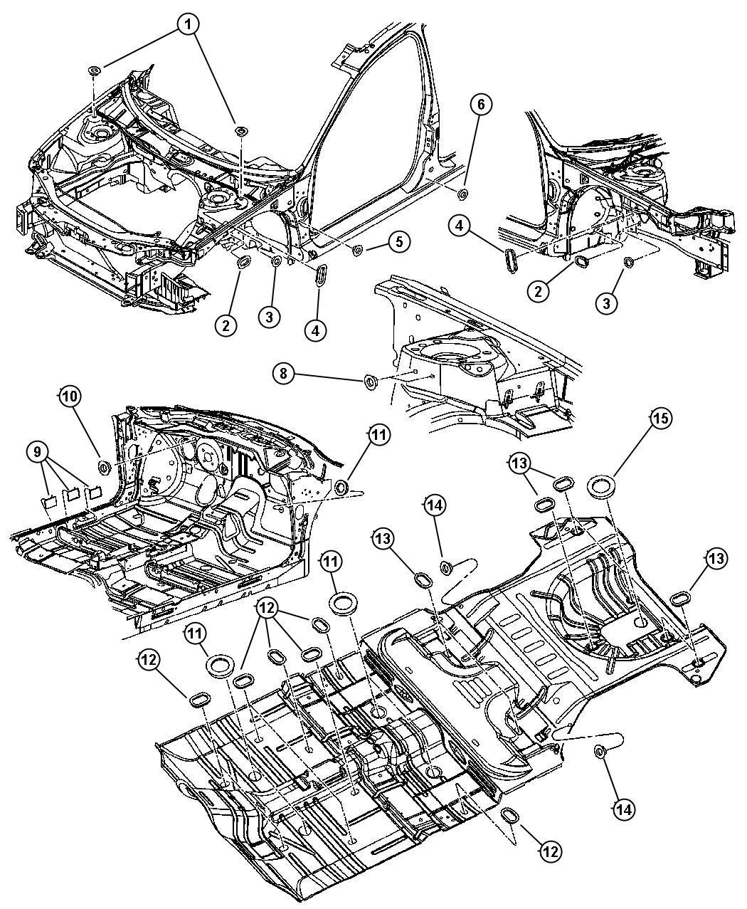 Dodge Stratus Plug  Access Hole  Front Suspension  313