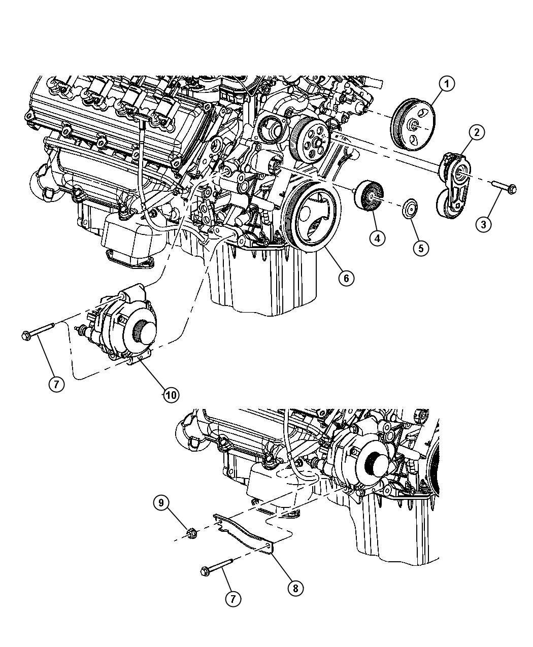 2013 chrysler 200 alternator  engine   bab   amp
