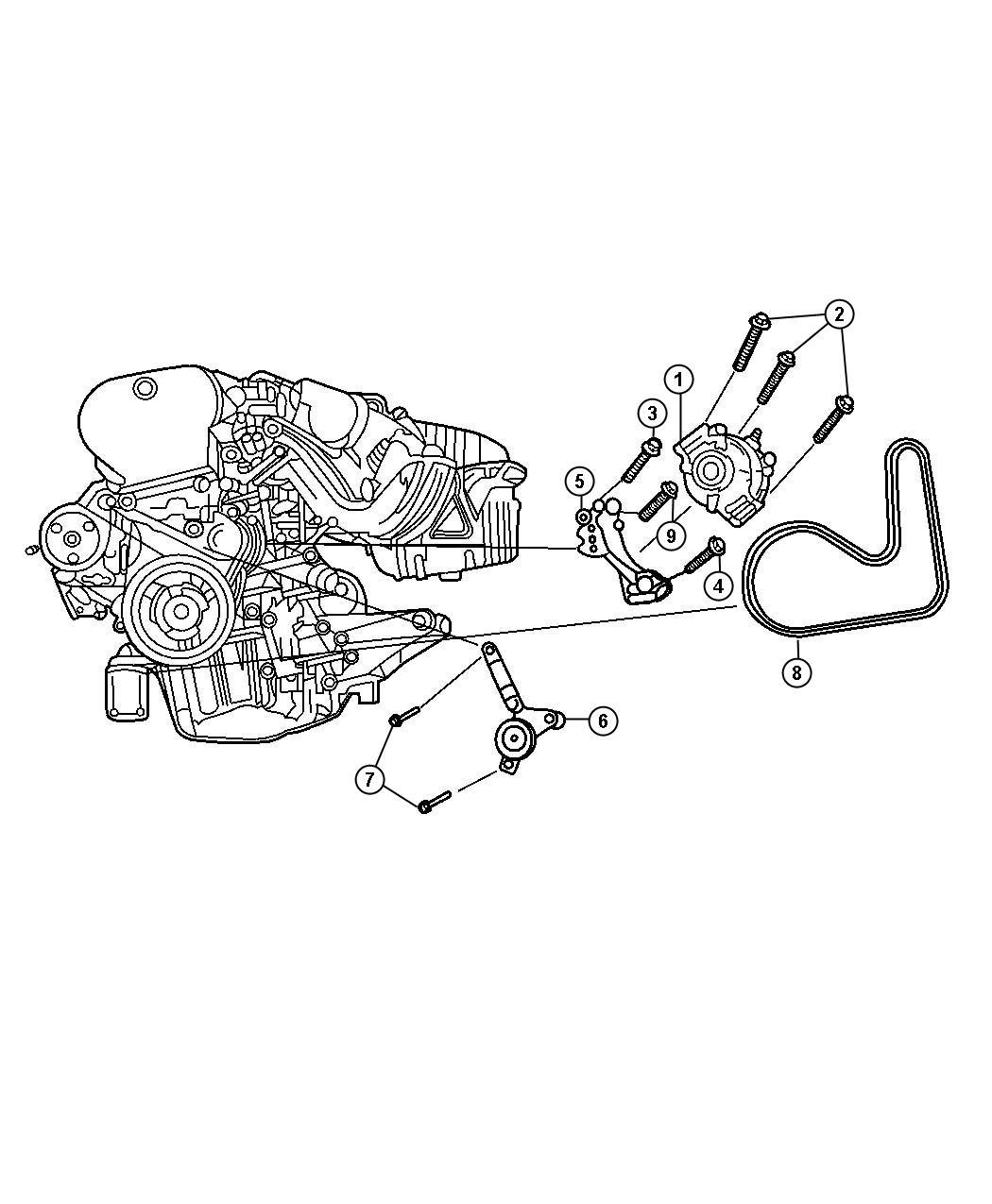 2006 Chrysler Sebring Belt  Alternator Drive  Used For