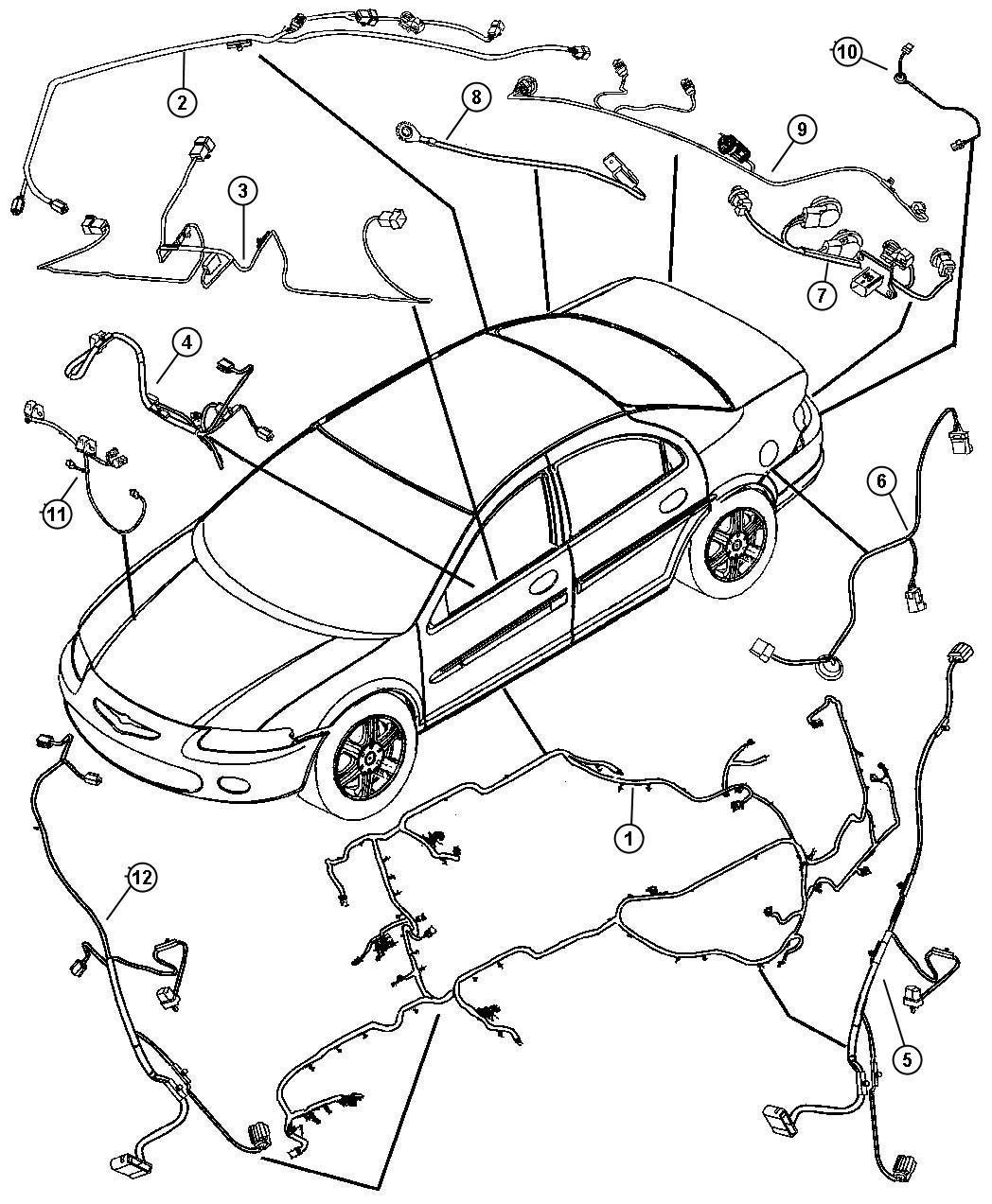 2006 dodge stratus lighting diagram