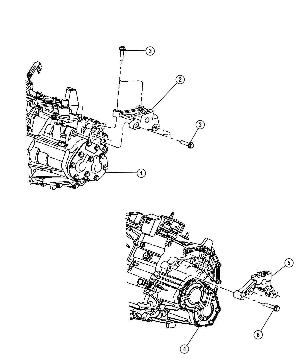 Chrysler Pt Cruiser Bracket  Engine Mount  Left Side