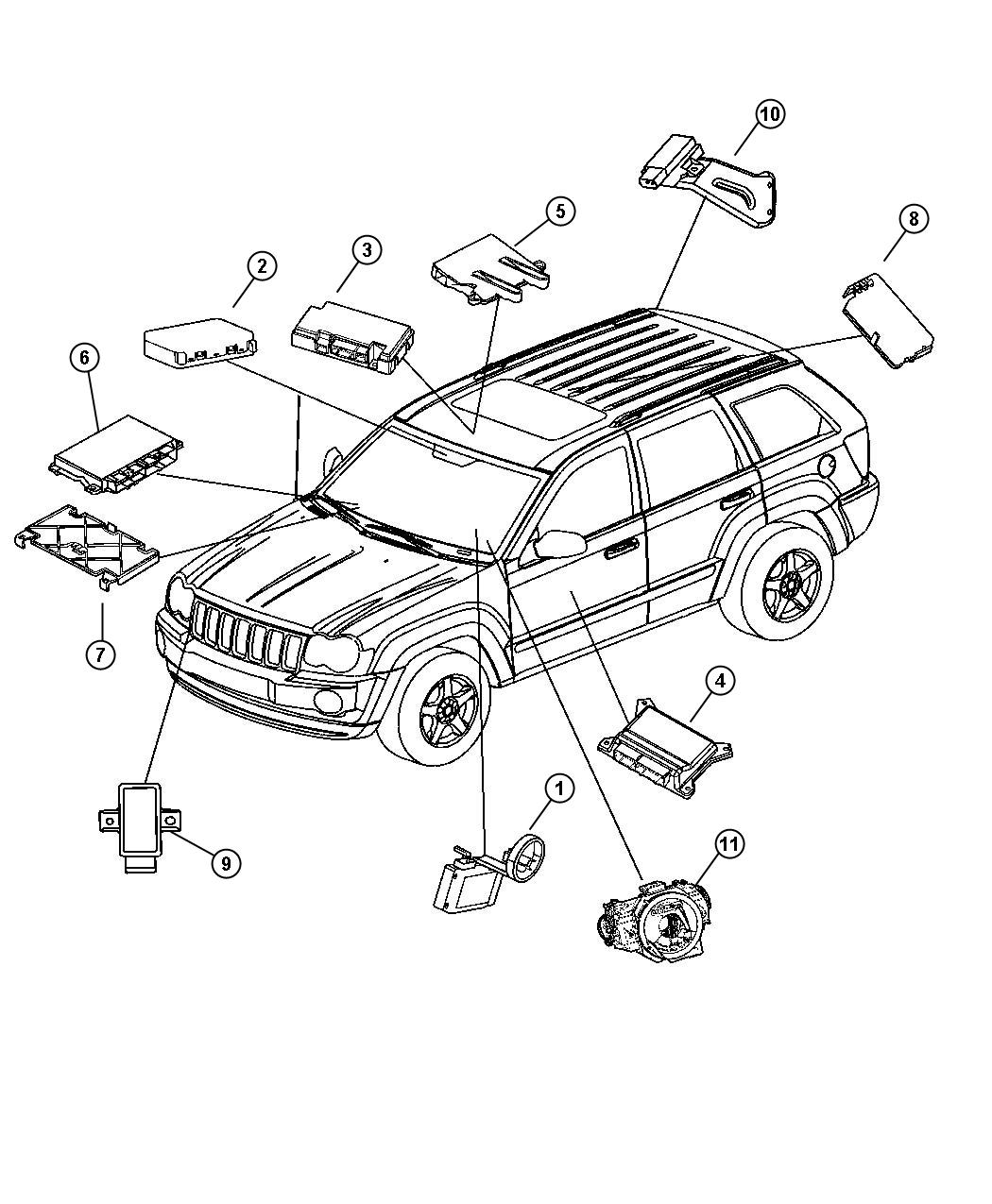 2006 jeep commander receiver control module lab. Black Bedroom Furniture Sets. Home Design Ideas