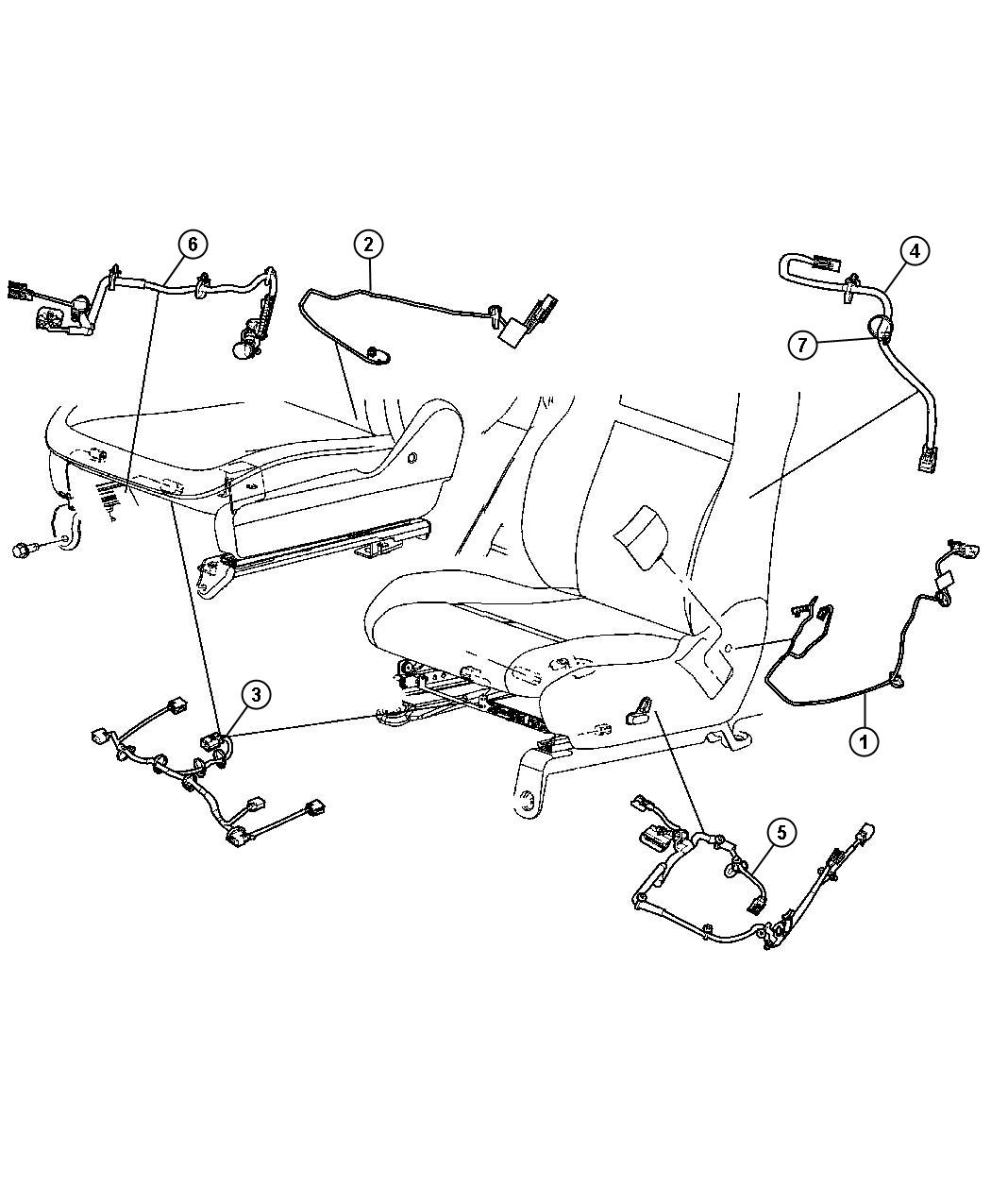 2006 jeep commander wiring  power seat  trim    yl