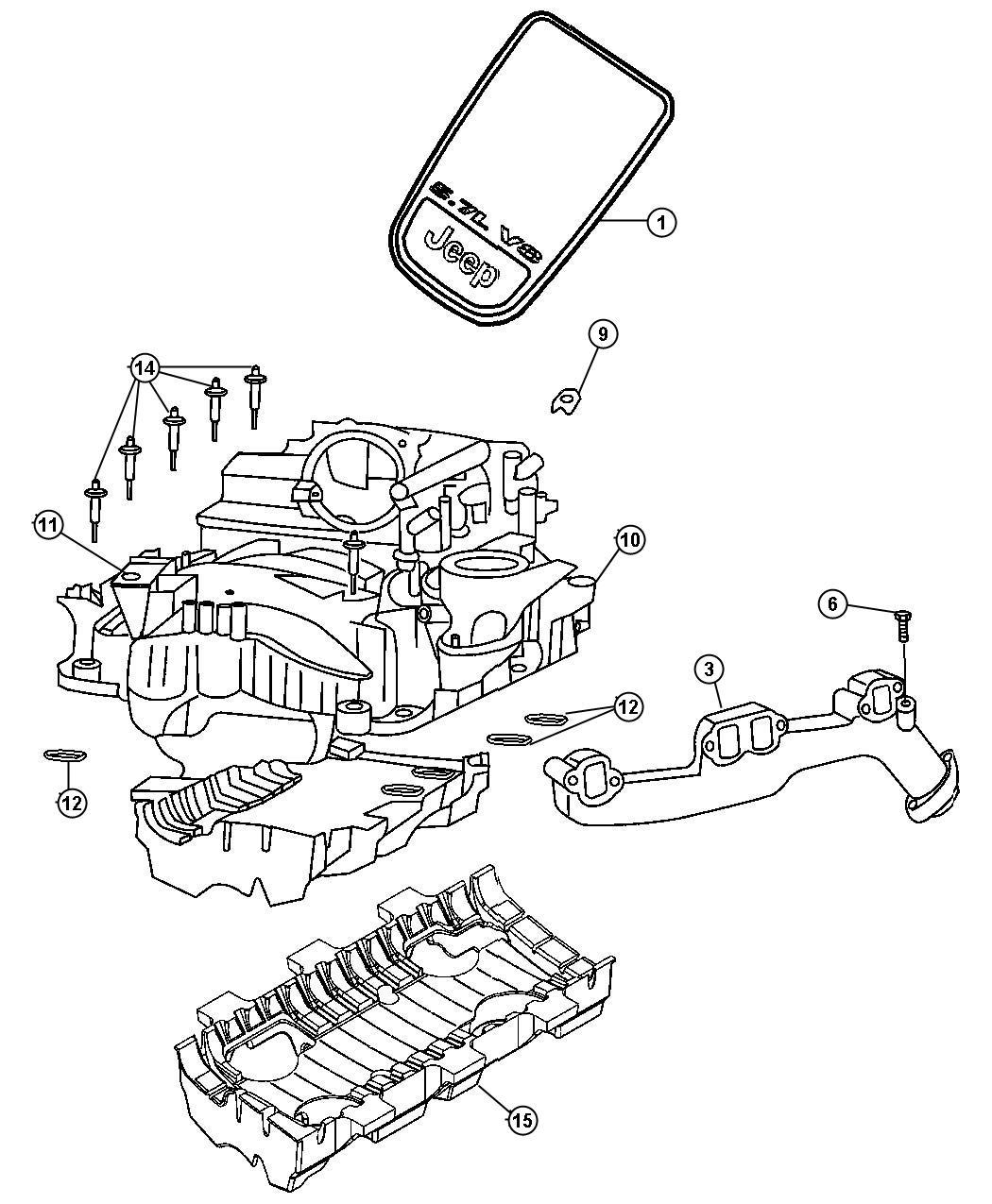 Jeep Grand Cherokee Manifold  Exhaust  Right  Ezb